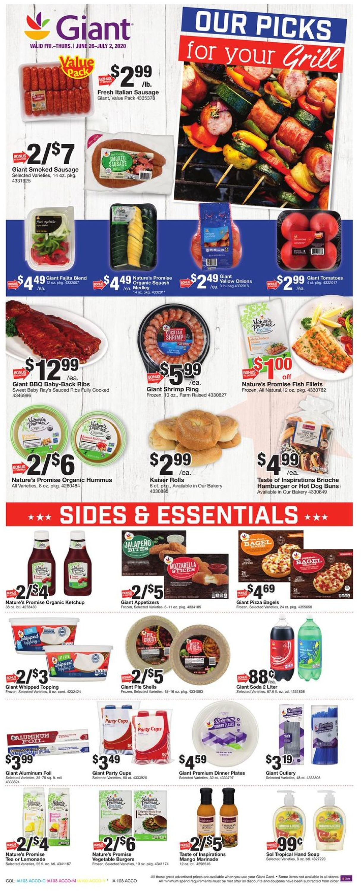 Giant Food Weekly Ad Circular - valid 06/26-07/02/2020 (Page 14)
