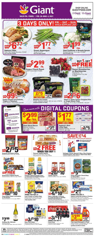Giant Food Weekly Ad Circular - valid 02/26-03/04/2021