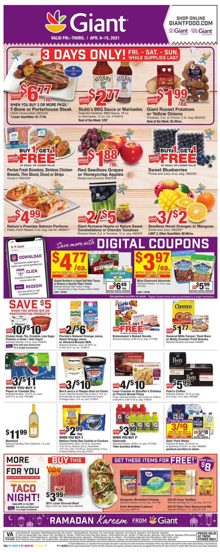 Giant Food Weekly Ad Circular - valid 04/09-04/15/2021