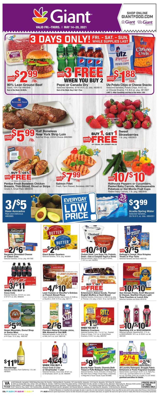 Giant Food Weekly Ad Circular - valid 05/14-05/20/2021