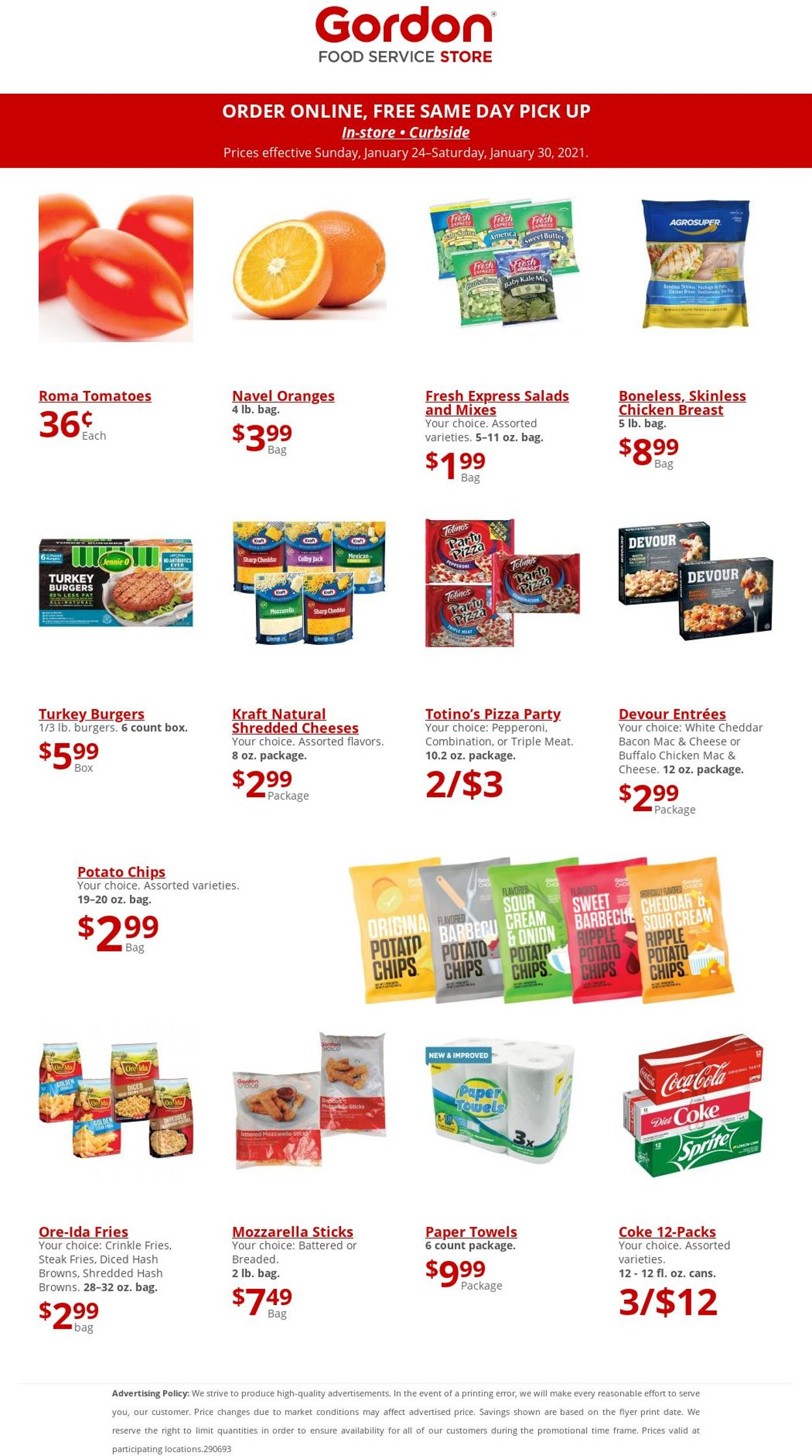 Gordon Food Service Store Weekly Ad Circular - valid 01/24-01/30/2021