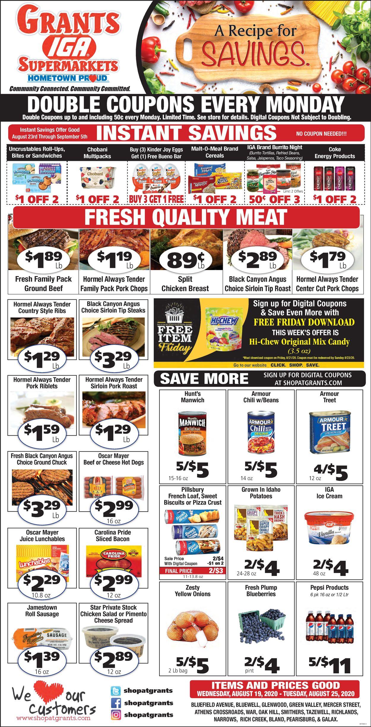 Grant's Supermarket Weekly Ad Circular - valid 08/19-08/25/2020