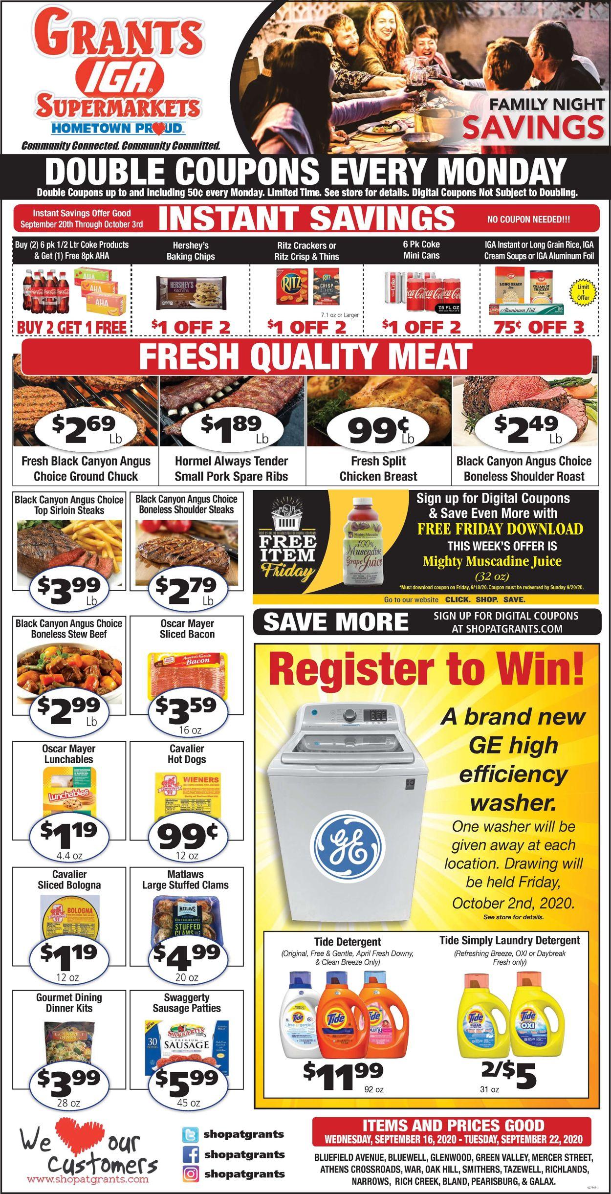Grant's Supermarket Weekly Ad Circular - valid 09/16-09/22/2020