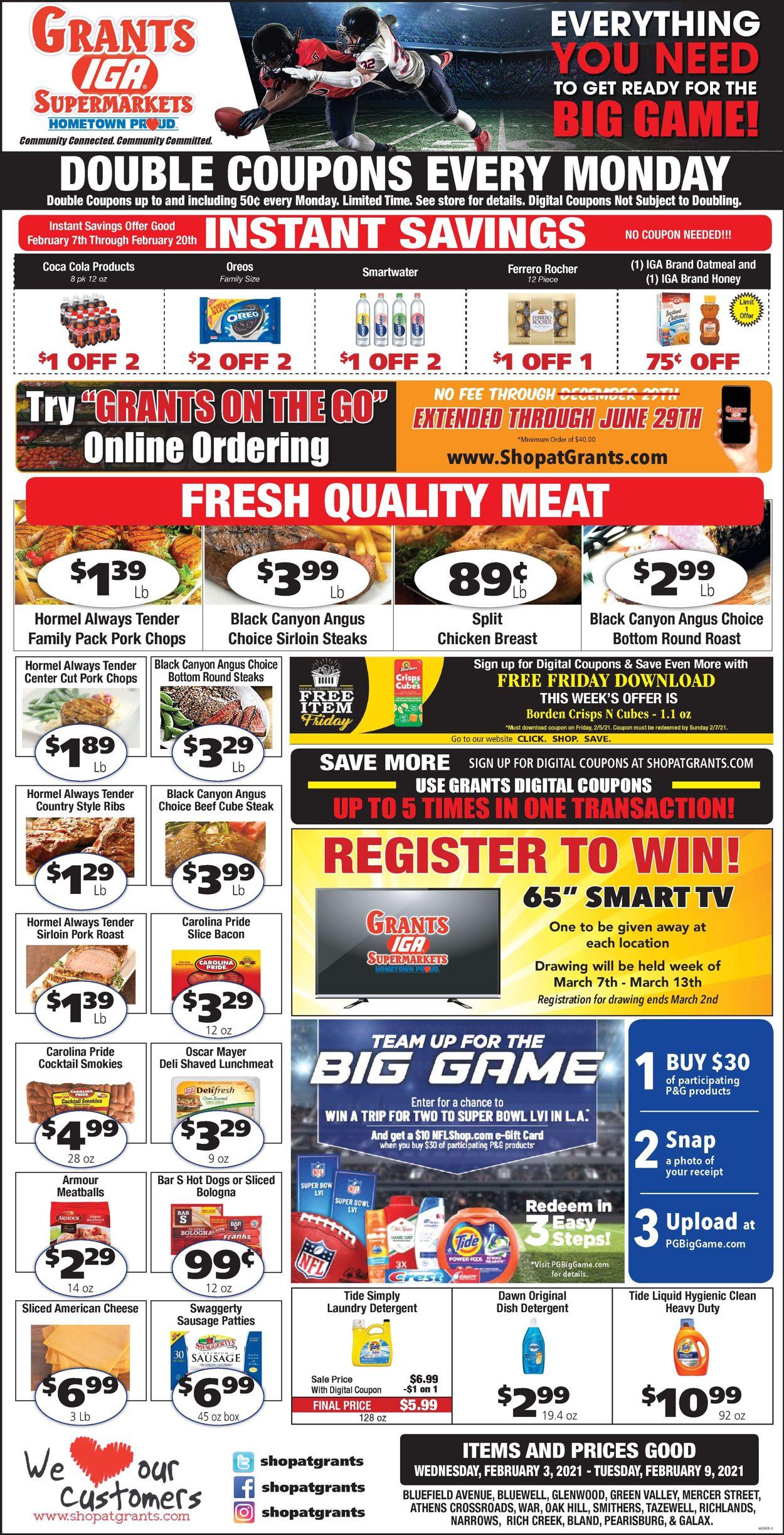 Grant's Supermarket Weekly Ad Circular - valid 02/03-02/09/2021