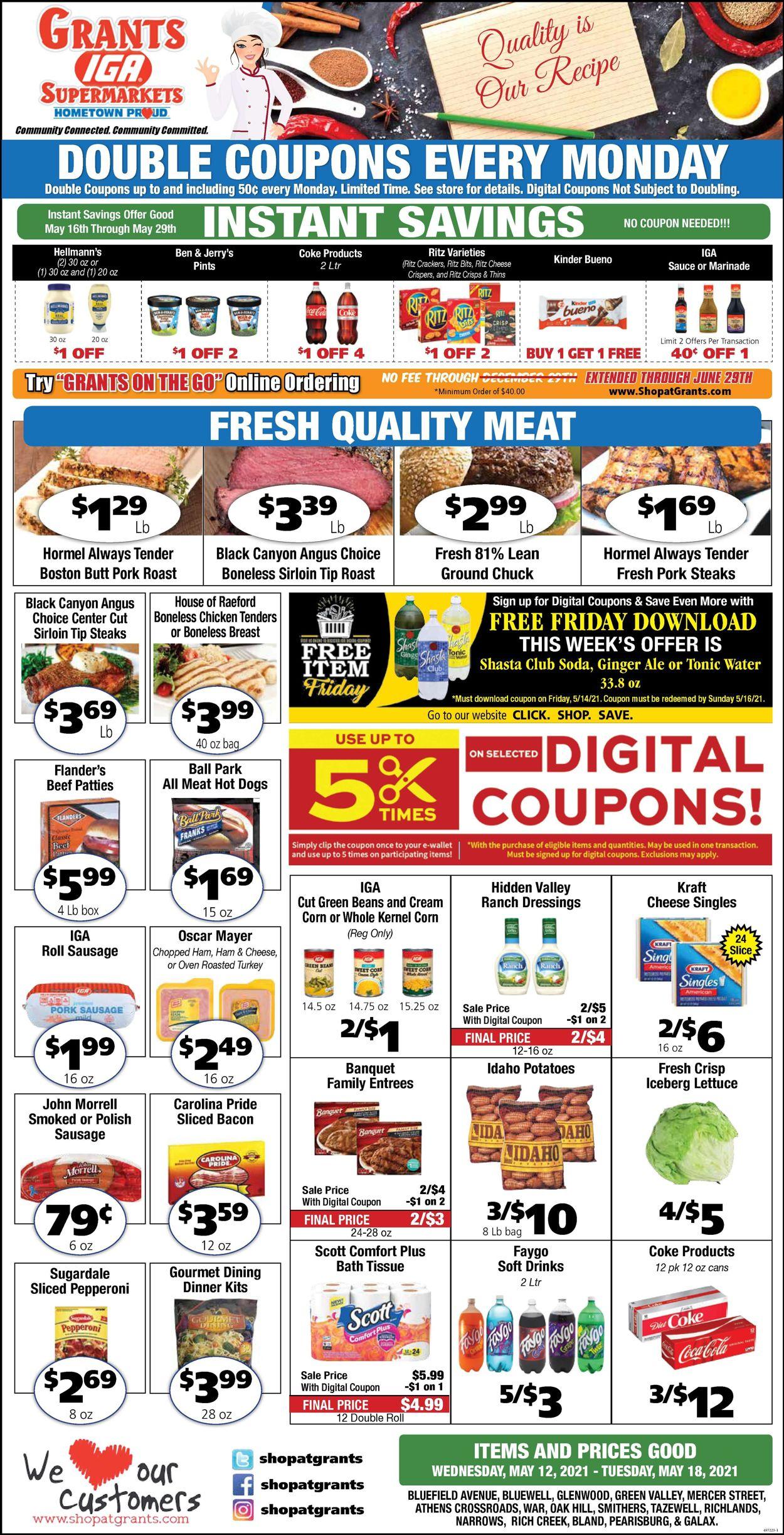 Grant's Supermarket Weekly Ad Circular - valid 05/12-05/18/2021