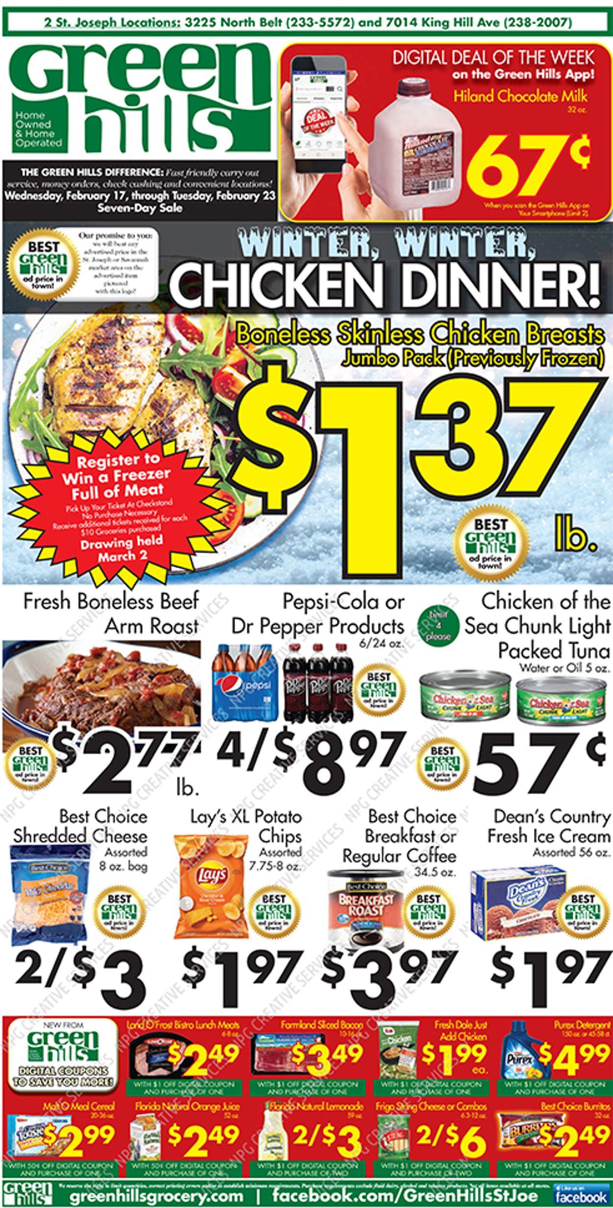 Green Hills Grocery Weekly Ad Circular - valid 02/17-02/23/2021