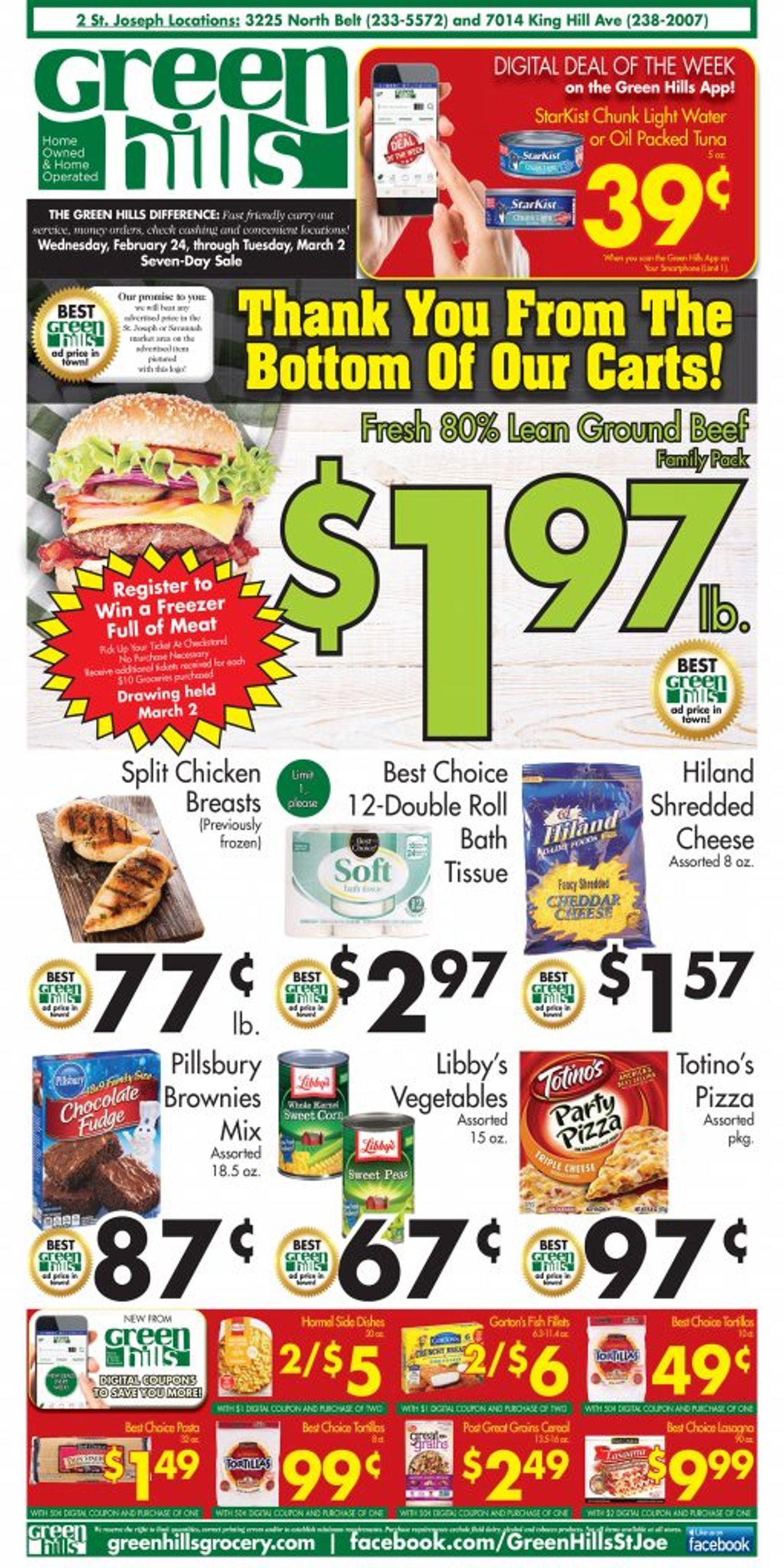 Green Hills Grocery Weekly Ad Circular - valid 02/24-03/02/2021