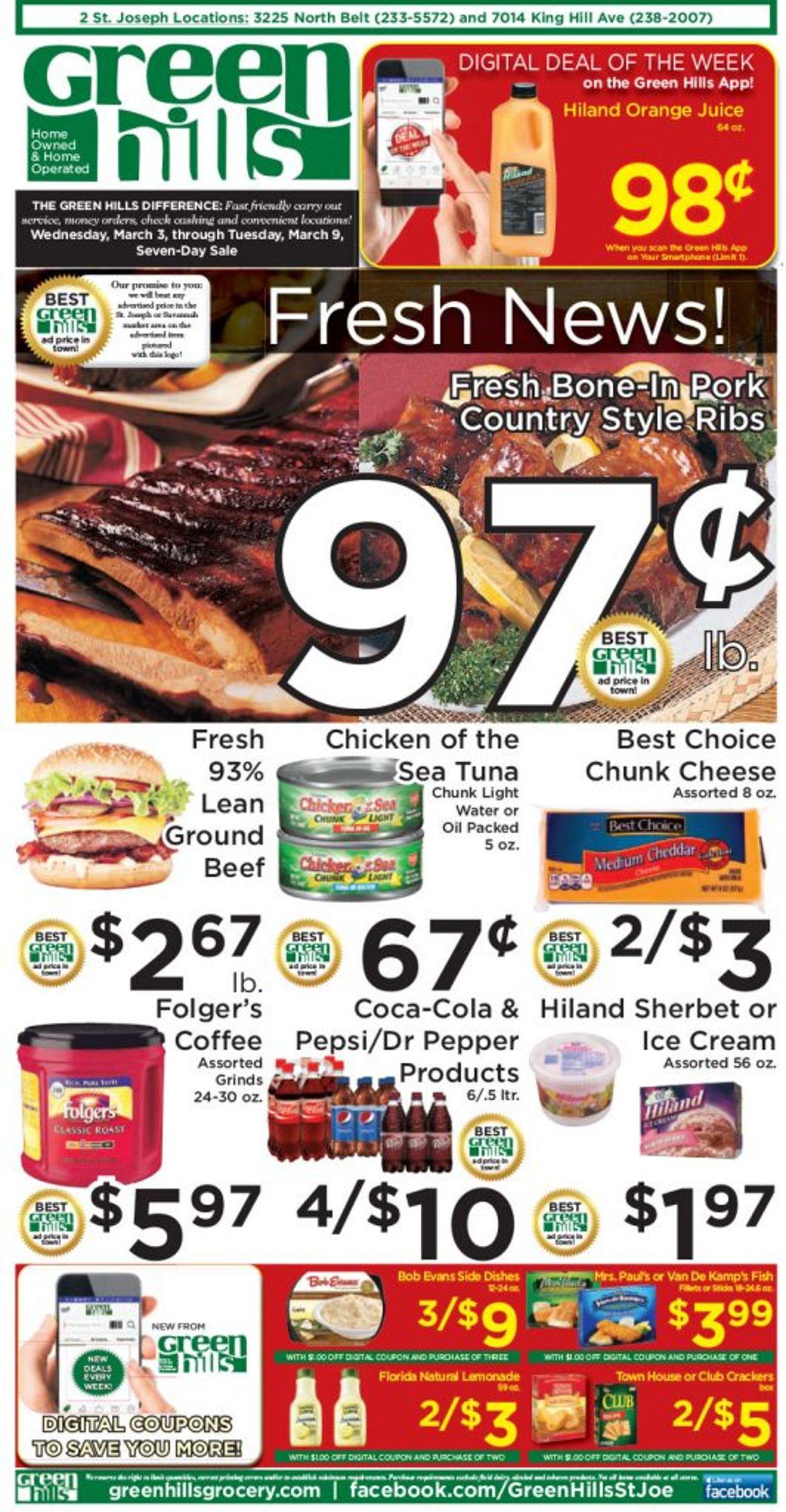Green Hills Grocery Weekly Ad Circular - valid 03/03-03/09/2021
