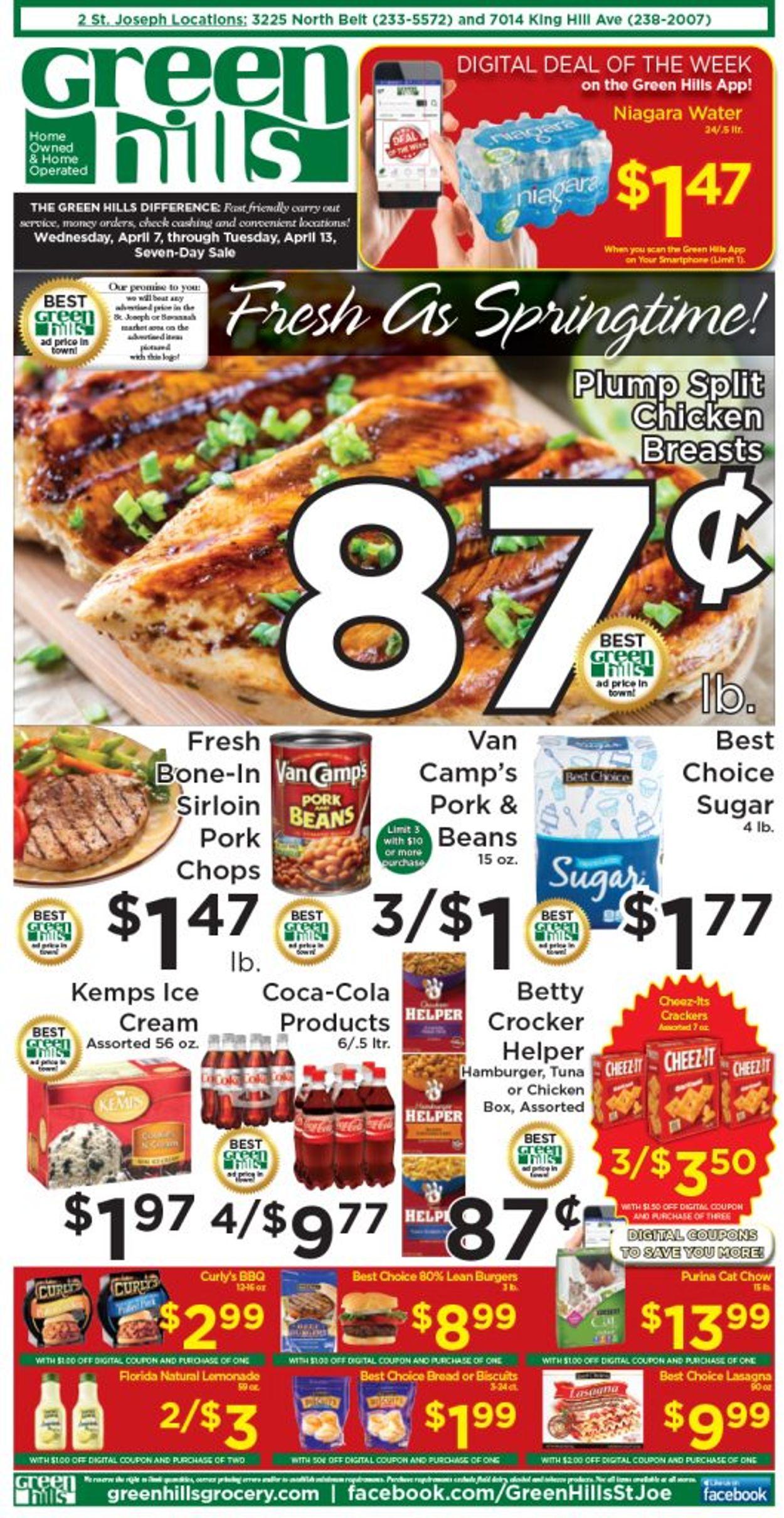 Green Hills Grocery Weekly Ad Circular - valid 04/07-04/13/2021
