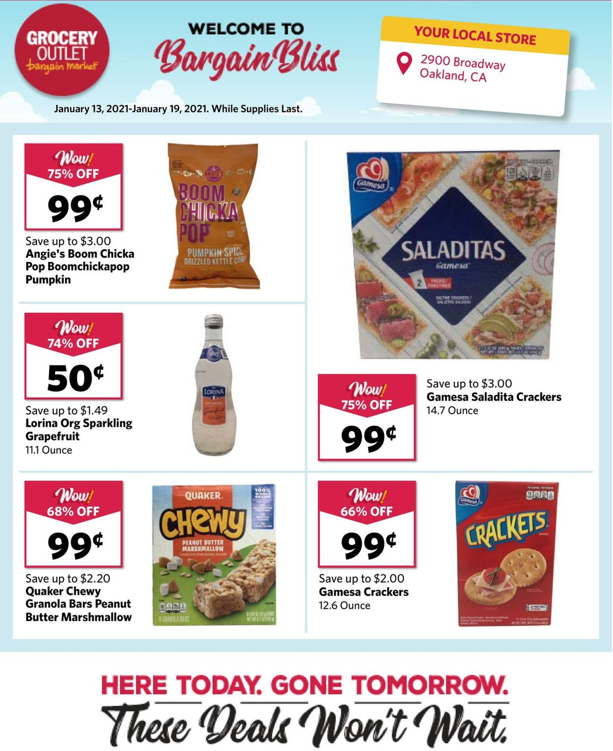 Grocery Outlet Weekly Ad Circular - valid 01/13-01/19/2021