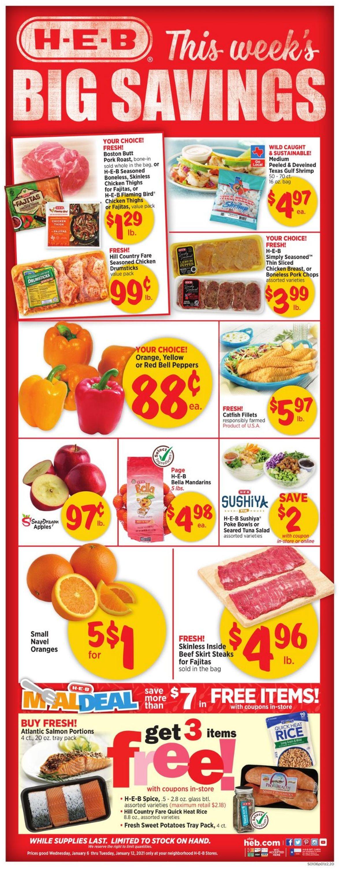 H-E-B Weekly Ad Circular - valid 01/06-01/12/2021