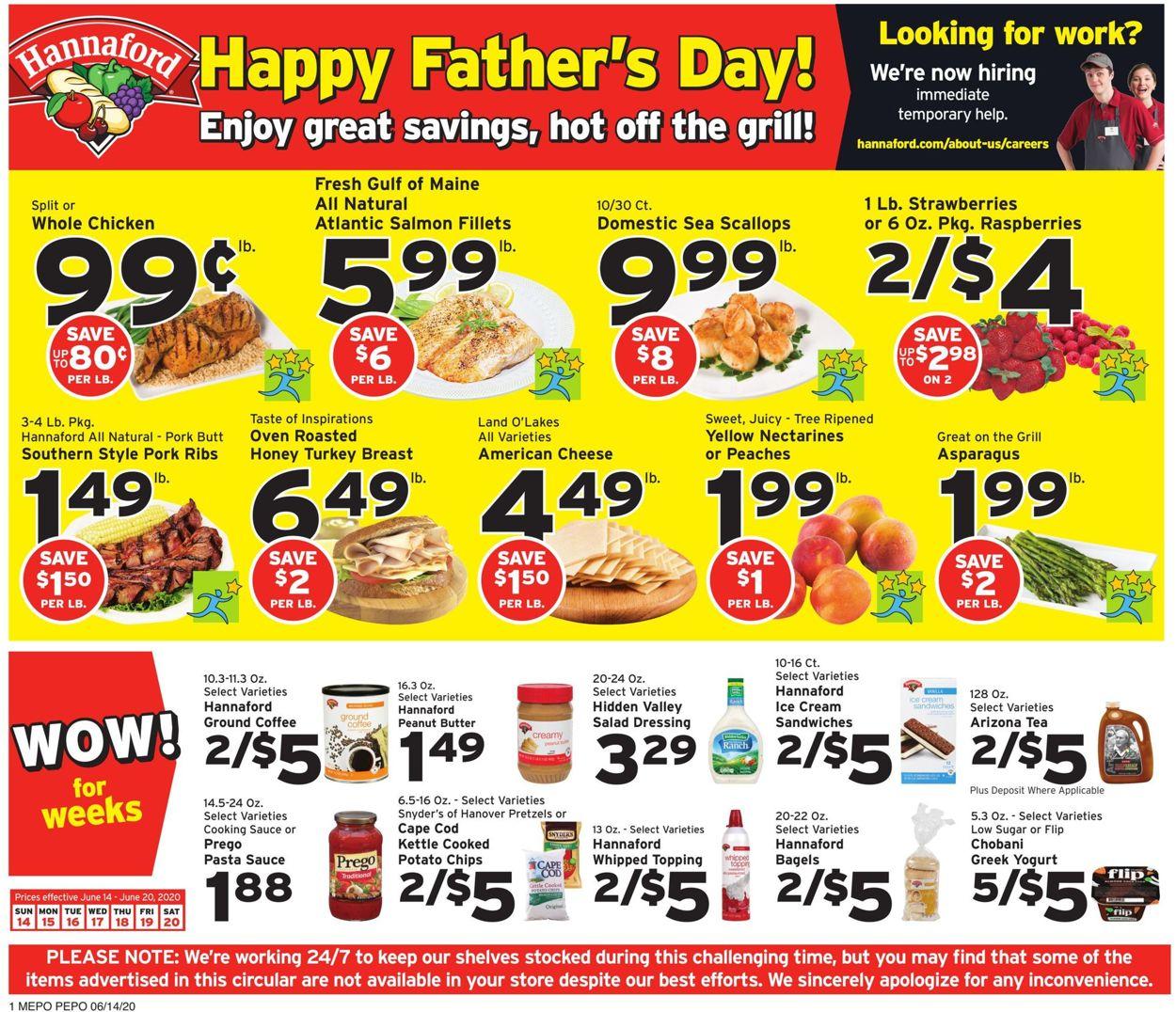 Hannaford Weekly Ad Circular - valid 06/14-06/20/2020