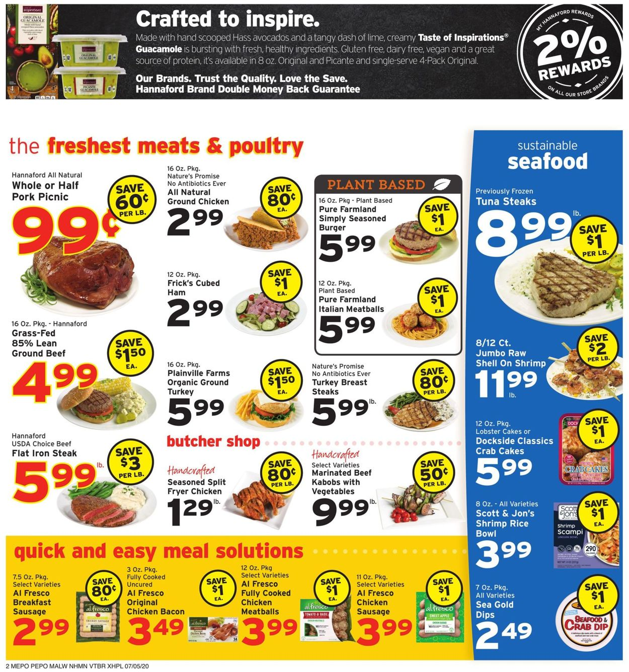 Hannaford Weekly Ad Circular - valid 07/05-07/11/2020 (Page 2)