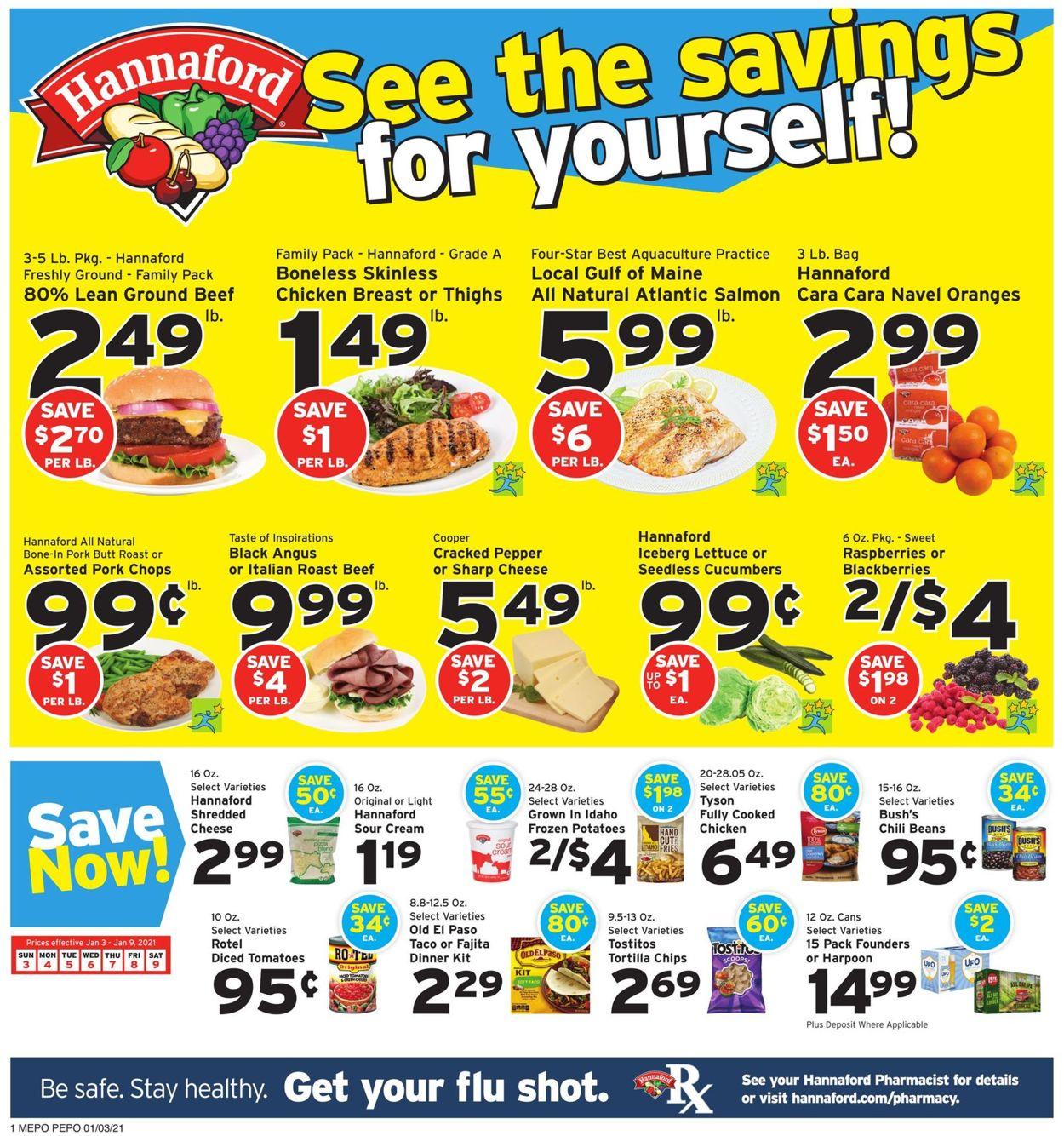 Hannaford Weekly Ad Circular - valid 01/03-01/09/2021