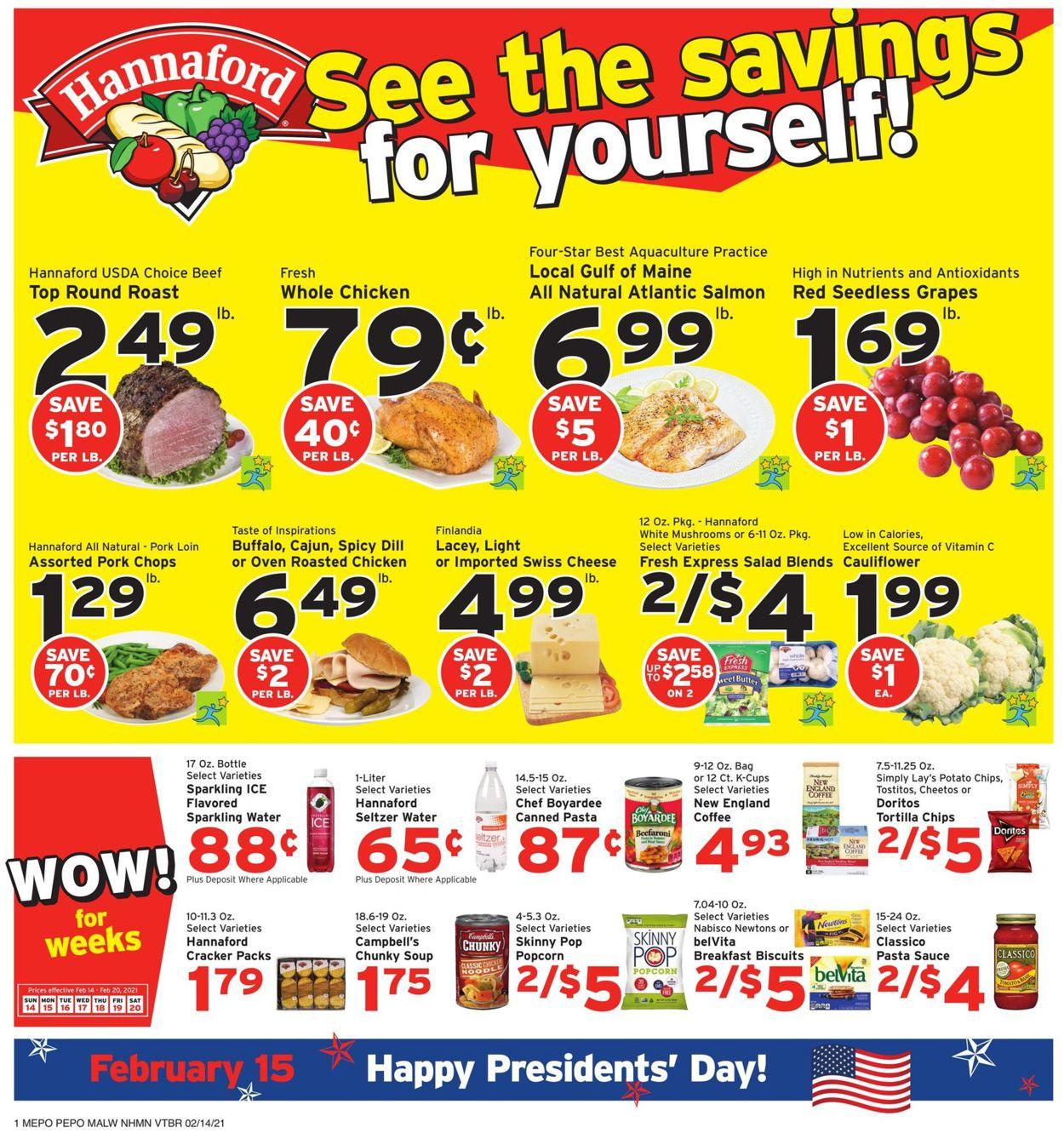 Hannaford Weekly Ad Circular - valid 02/14-02/20/2021