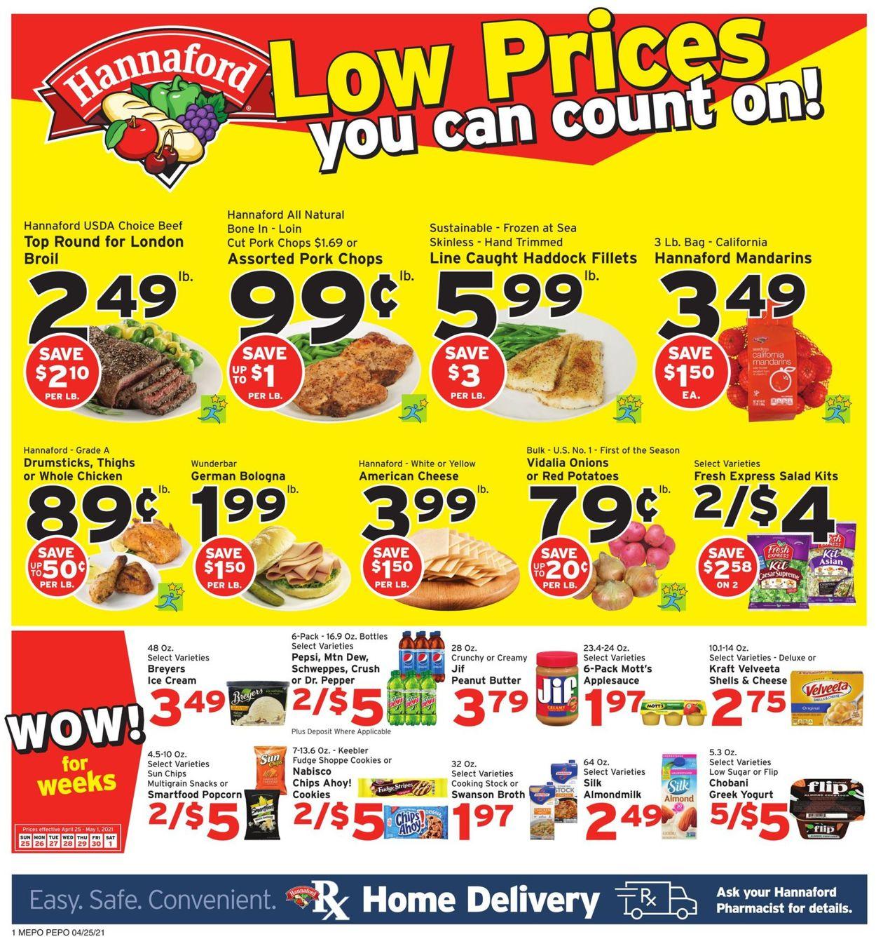 Hannaford Weekly Ad Circular - valid 04/25-05/01/2021