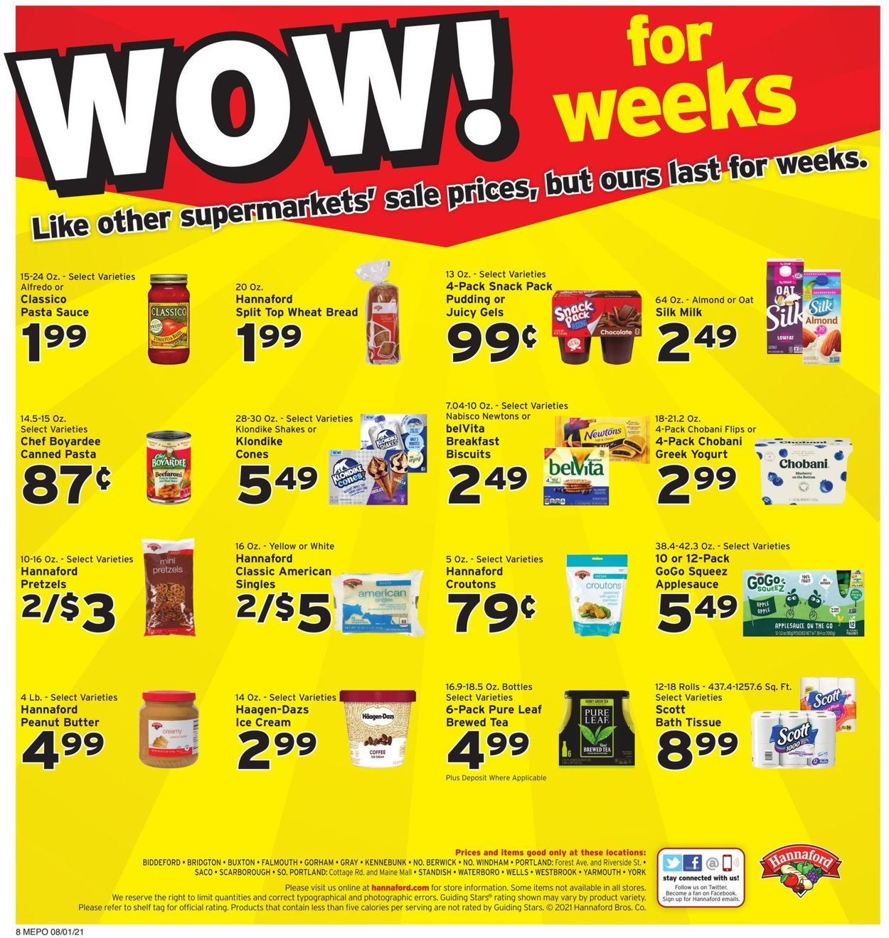 Hannaford Weekly Ad Circular - valid 08/01-08/07/2021 (Page 10)