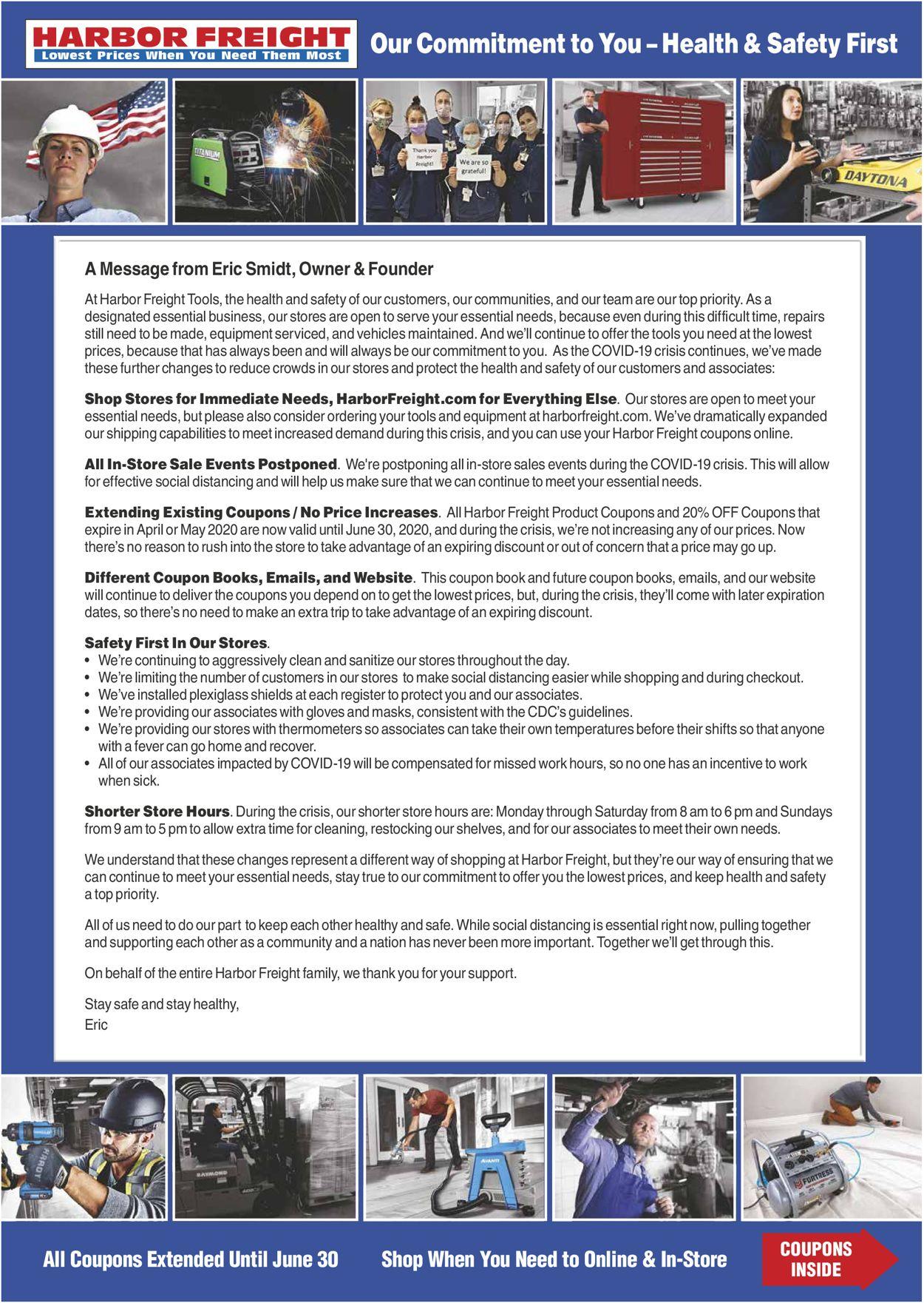 Harbor Freight Weekly Ad Circular - valid 05/01-05/31/2020