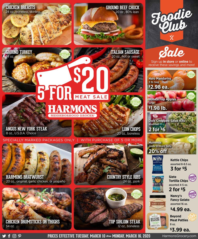 Harmons Weekly Ad Circular - valid 03/10-03/16/2020