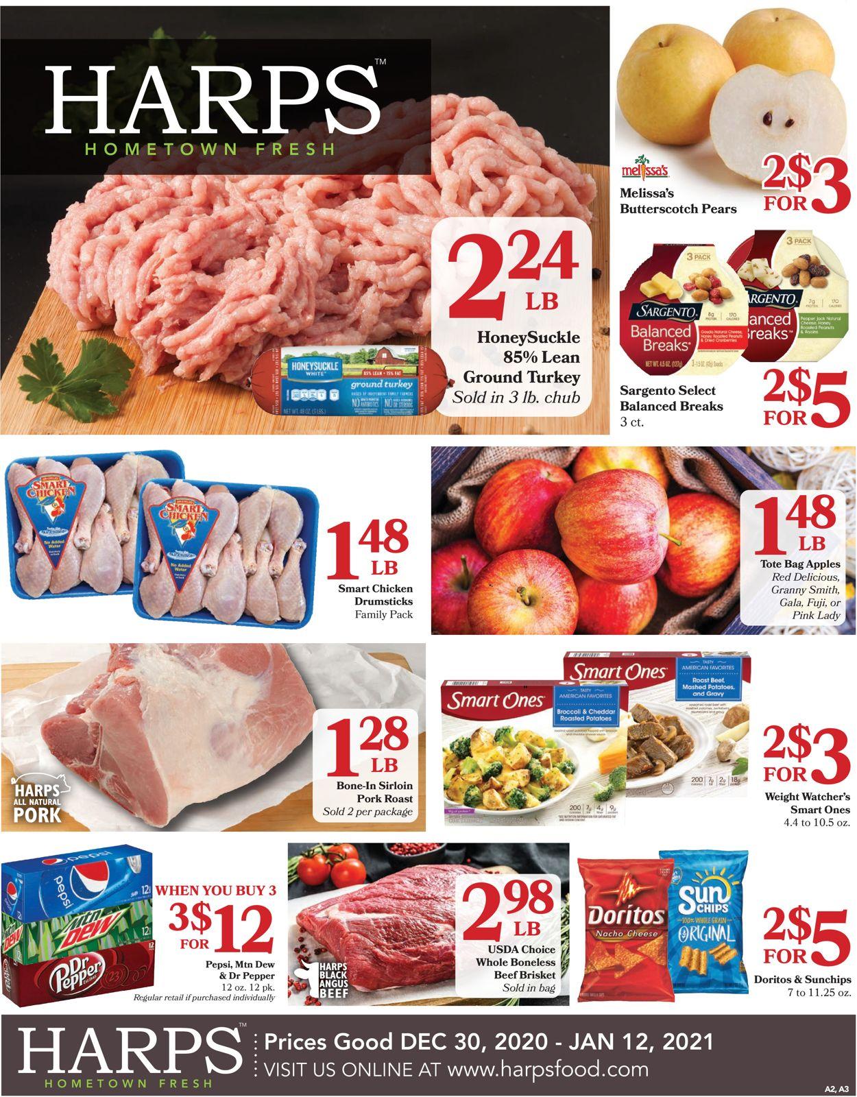 Harps Foods Weekly Ad Circular - valid 12/30-01/12/2021