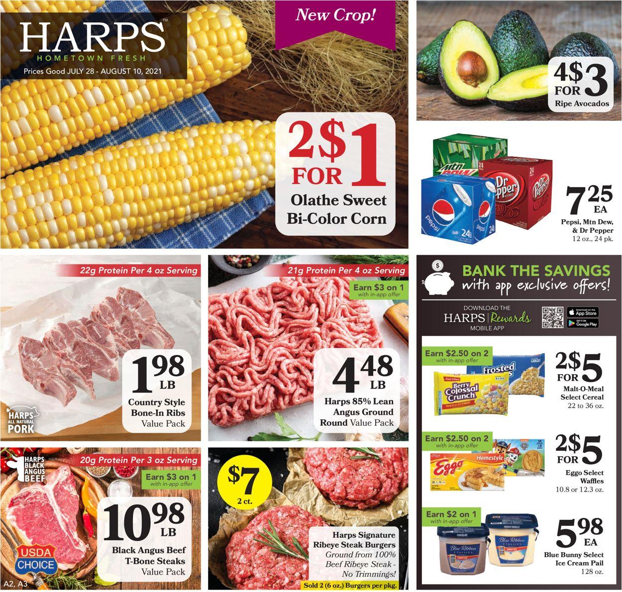 Harps Foods Weekly Ad Circular - valid 07/28-08/10/2021