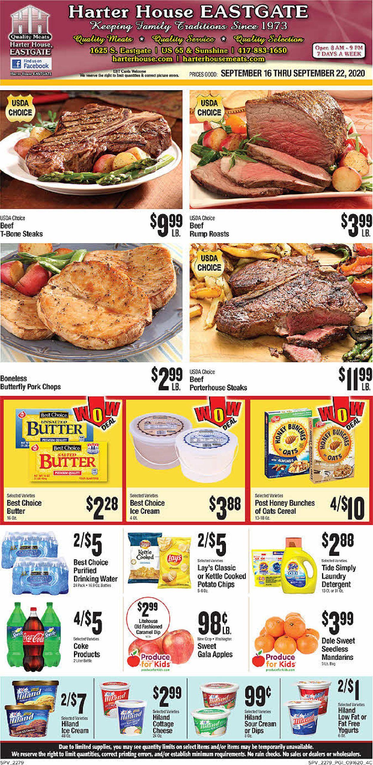 Harter House Weekly Ad Circular - valid 09/16-09/22/2020