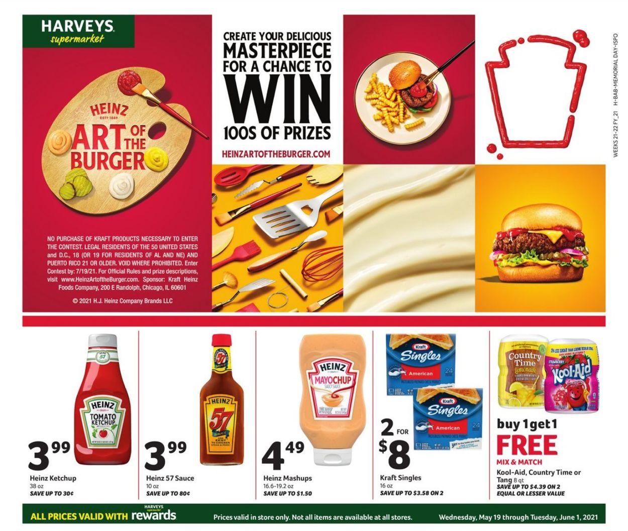 Harveys Supermarket Weekly Ad Circular - valid 05/19-06/01/2021