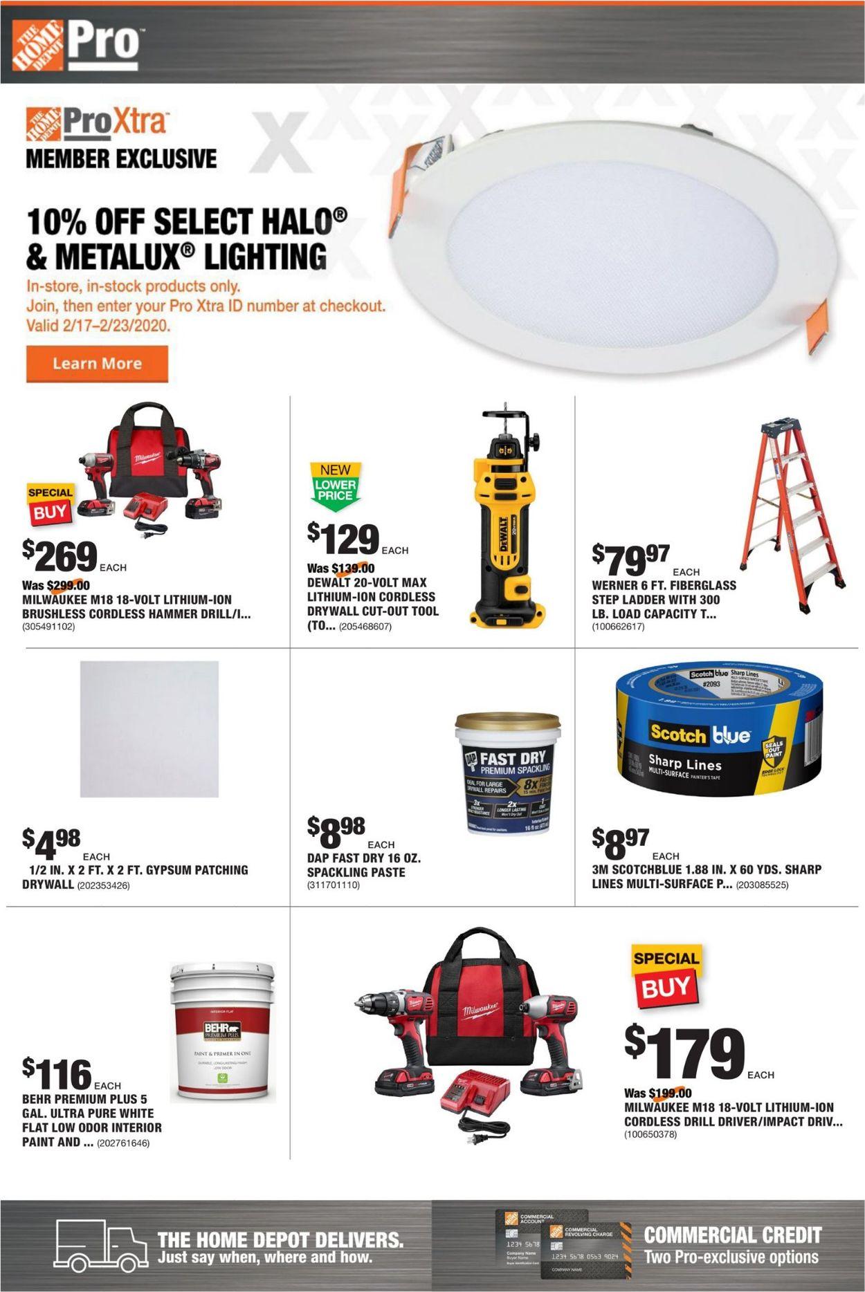 Home Depot Weekly Ad Circular - valid 02/17-02/24/2020