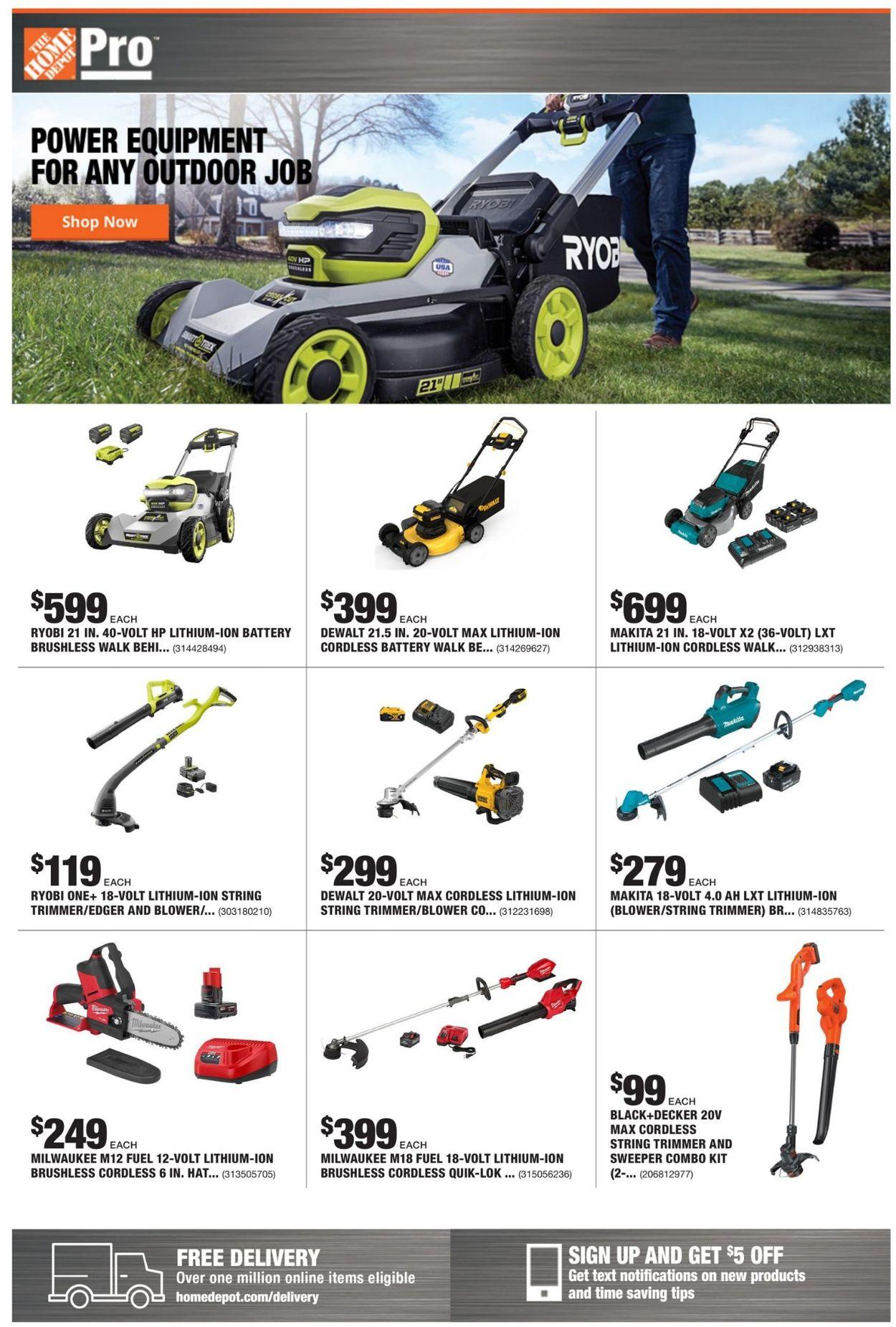 Home Depot Weekly Ad Circular - valid 03/08-03/15/2021