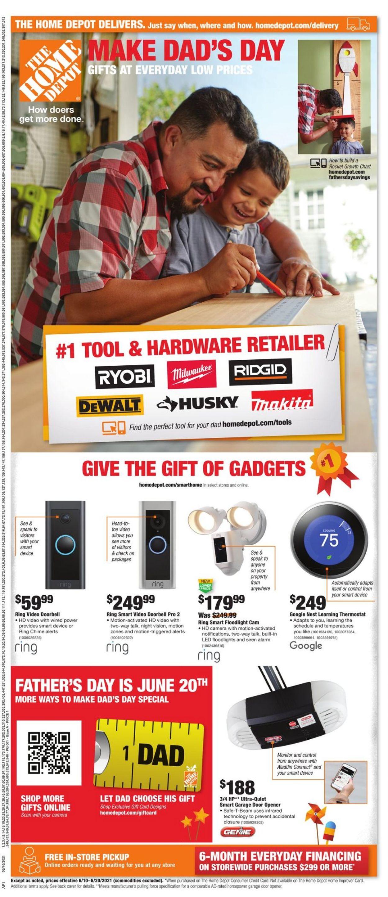 Home Depot Weekly Ad Circular - valid 06/10-06/20/2021