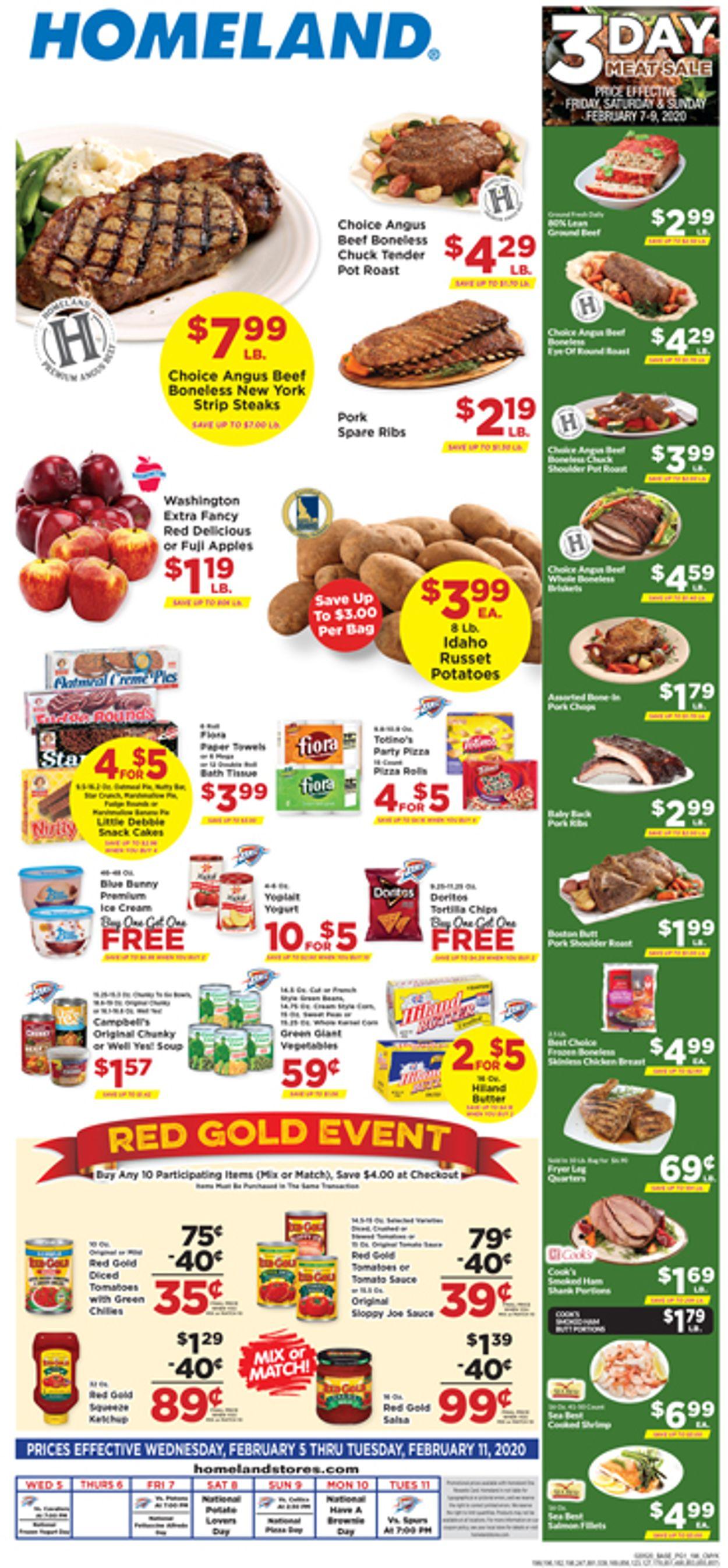 Homeland Weekly Ad Circular - valid 02/05-02/11/2020