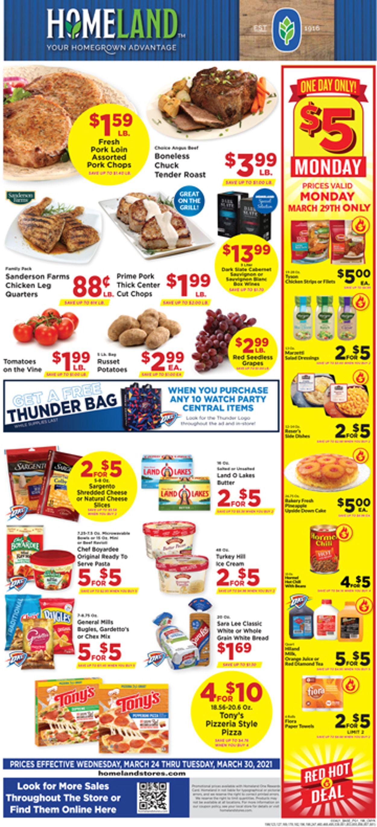 Homeland Weekly Ad Circular - valid 03/24-03/30/2021