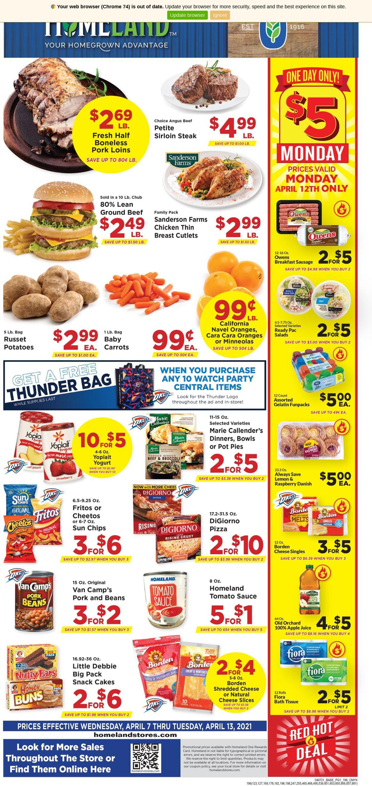 Homeland Weekly Ad Circular - valid 04/07-04/13/2021
