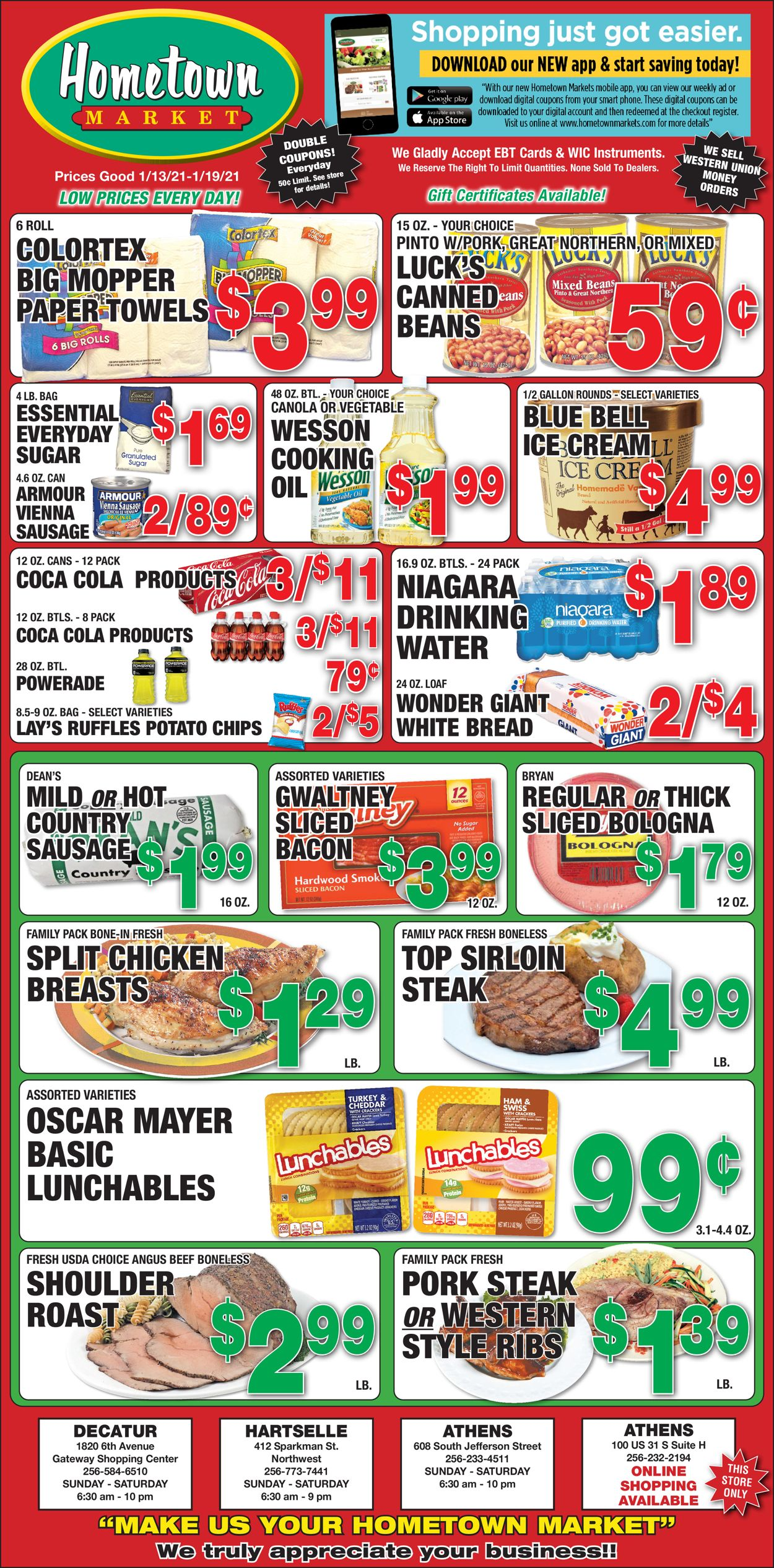 Hometown Market Weekly Ad Circular - valid 01/13-01/19/2021
