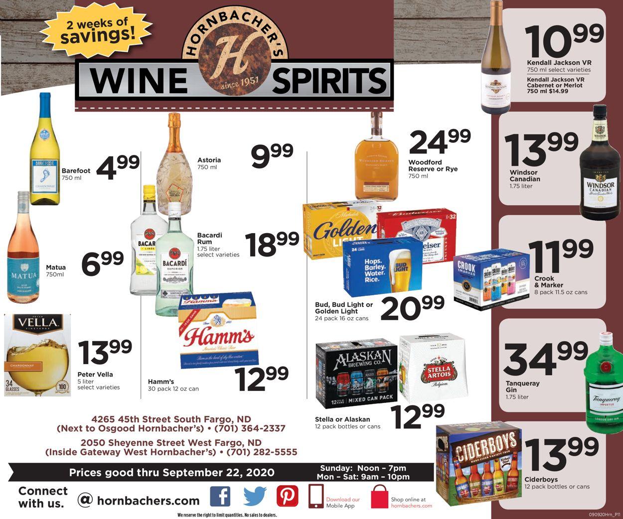Hornbacher's Weekly Ad Circular - valid 09/09-09/22/2020