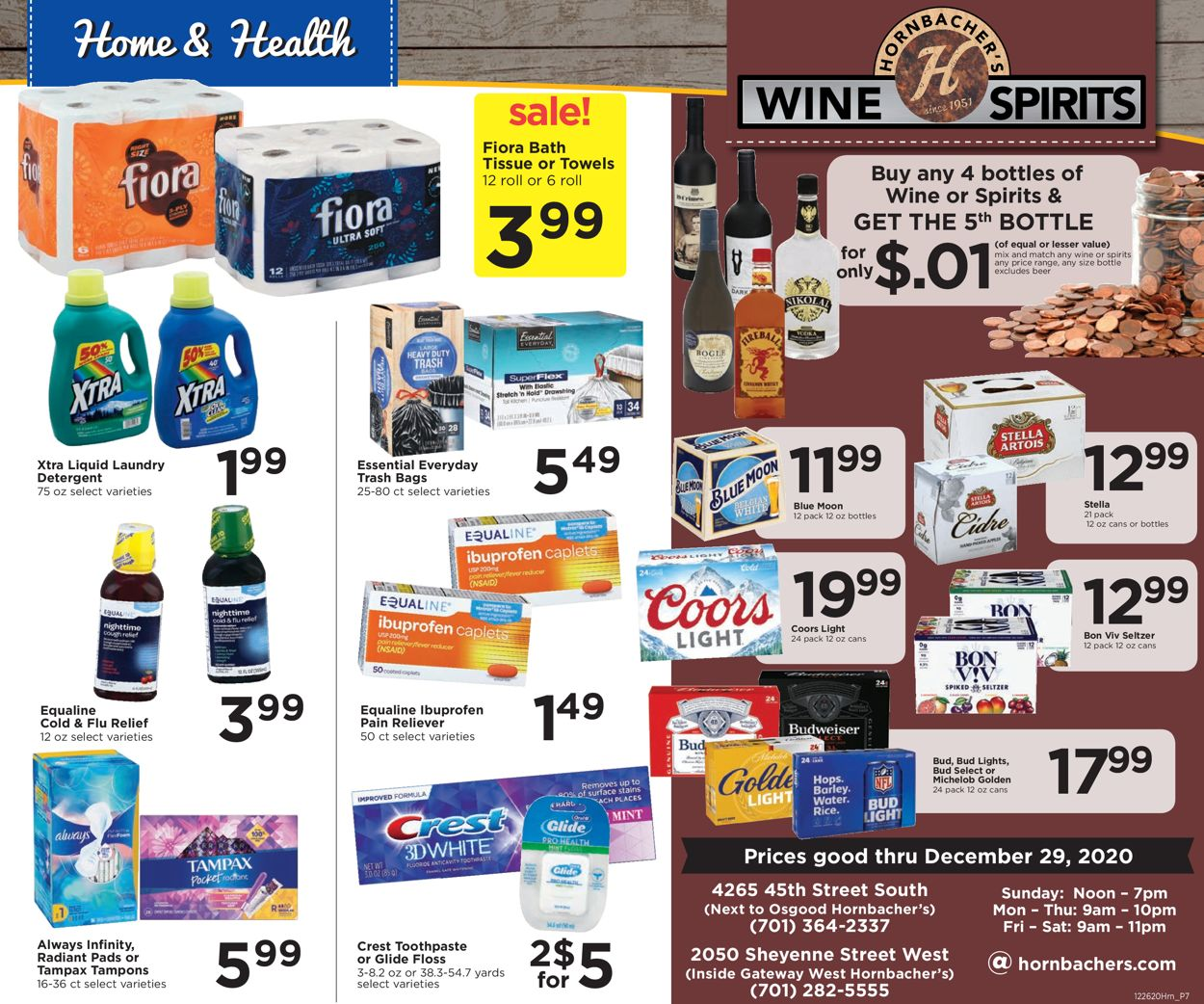Hornbacher's Wine & Spirits 2020 Weekly Ad Circular - valid 12/22-12/29/2020