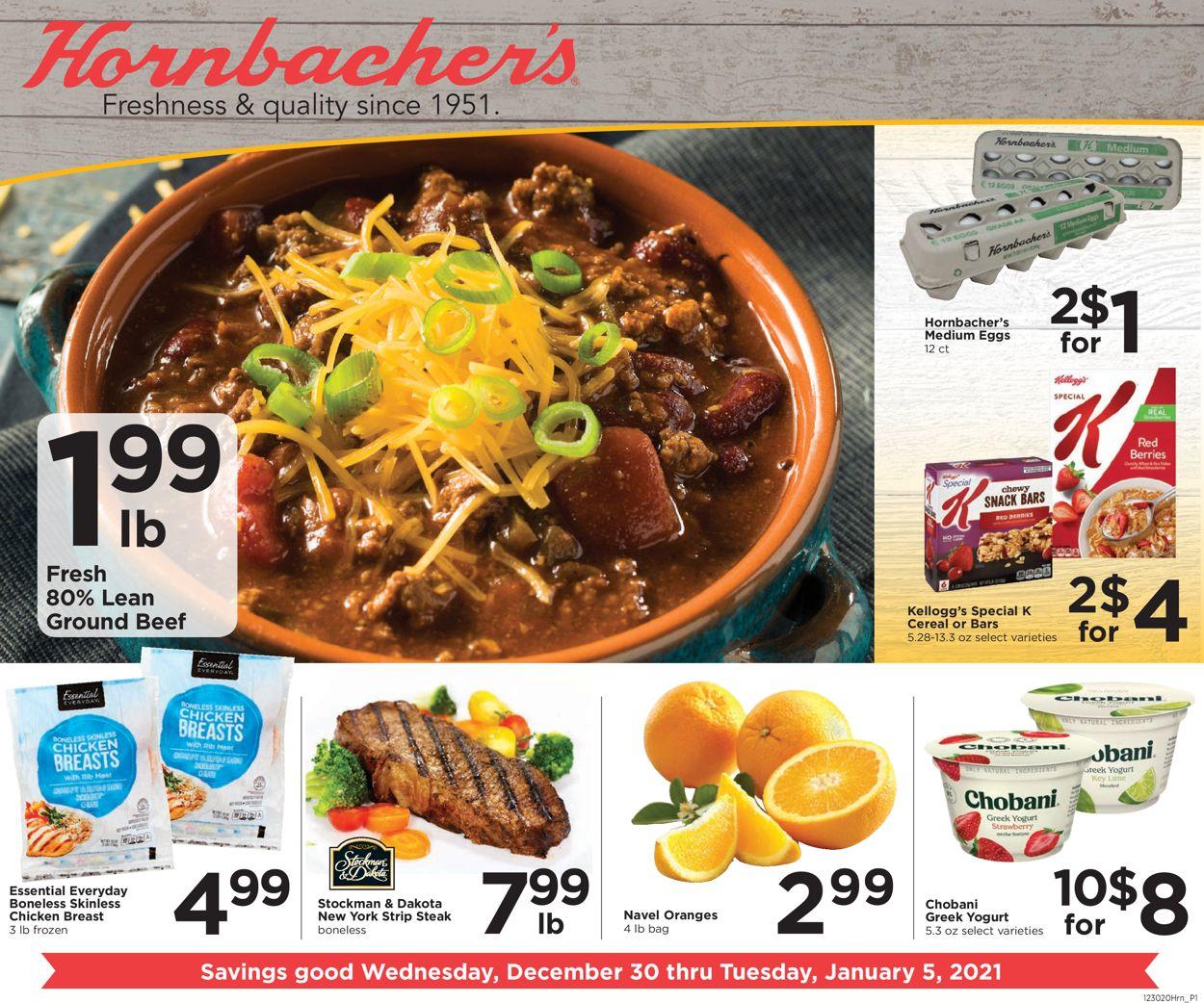 Hornbacher's Weekly Ad Circular - valid 12/30-01/05/2021