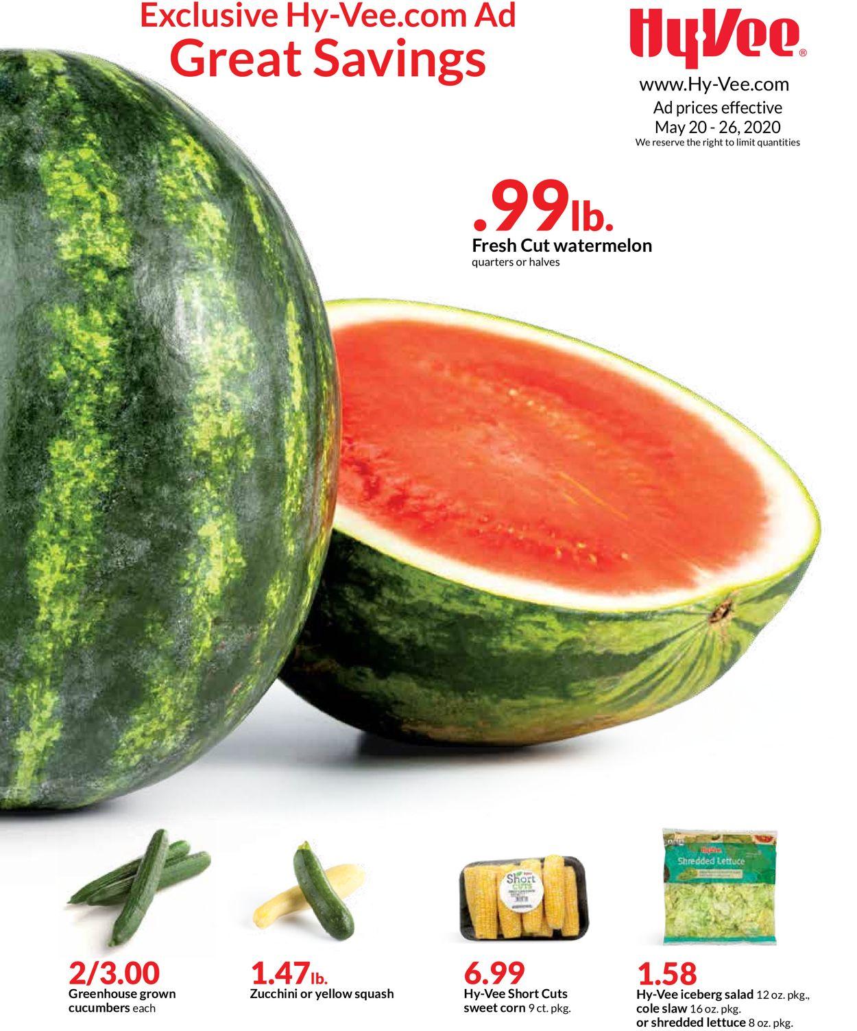 HyVee Weekly Ad Circular - valid 05/20-05/26/2020