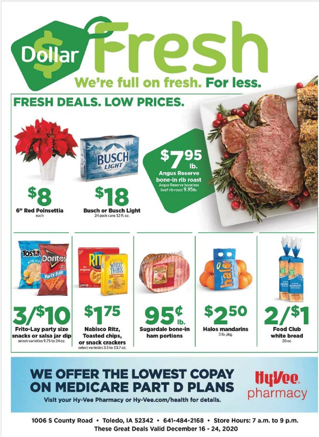 HyVee Weekly Ad Circular - valid 12/16-12/24/2020