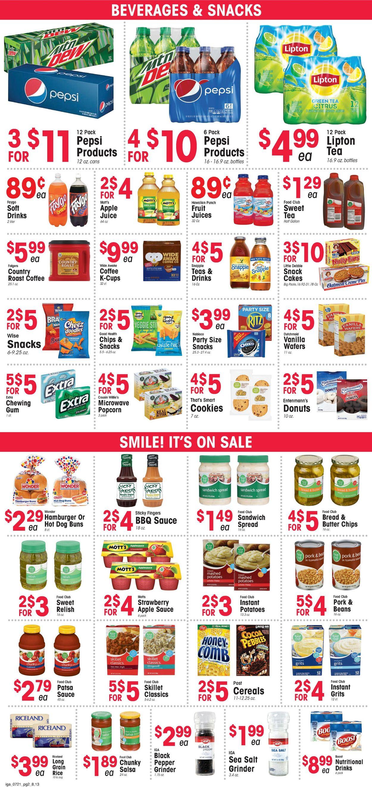 IGA Weekly Ad Circular - valid 07/21-07/27/2021 (Page 2)