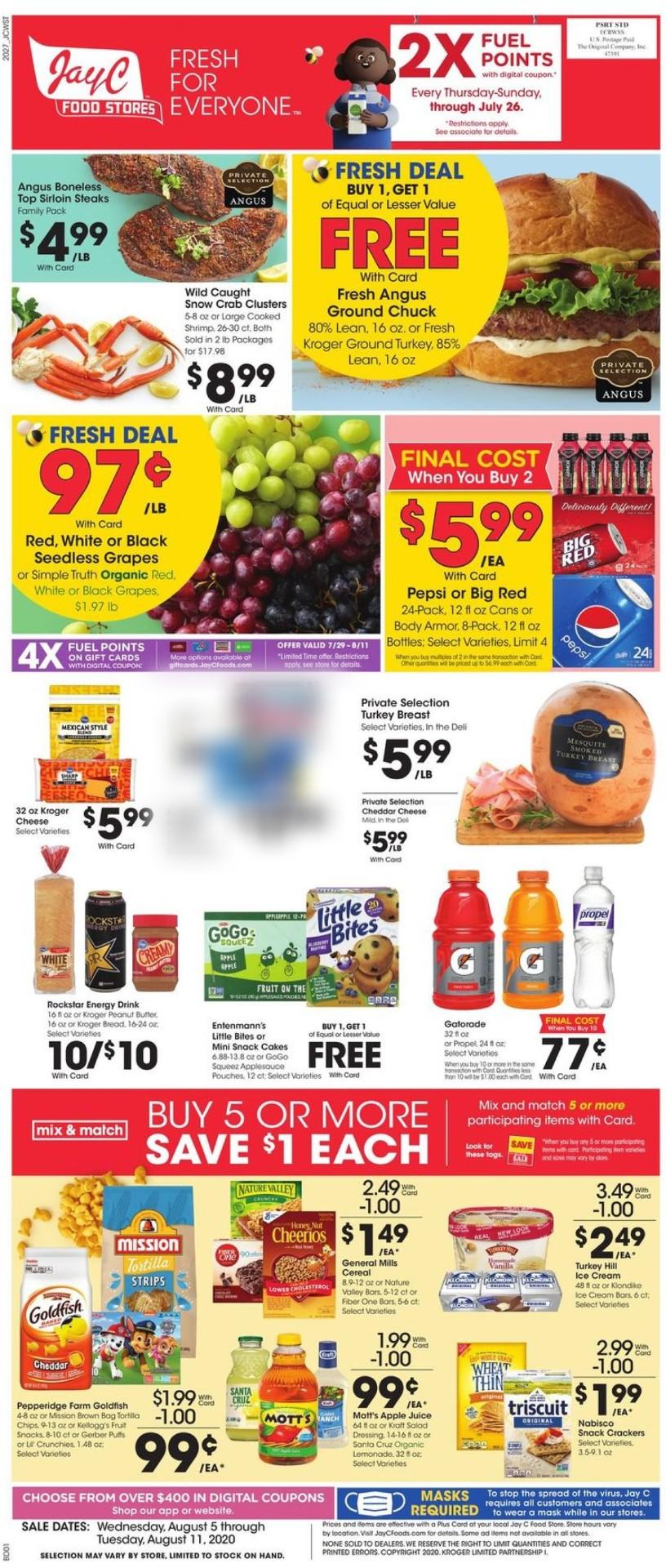 Jay C Food Stores Weekly Ad Circular - valid 08/05-08/11/2020
