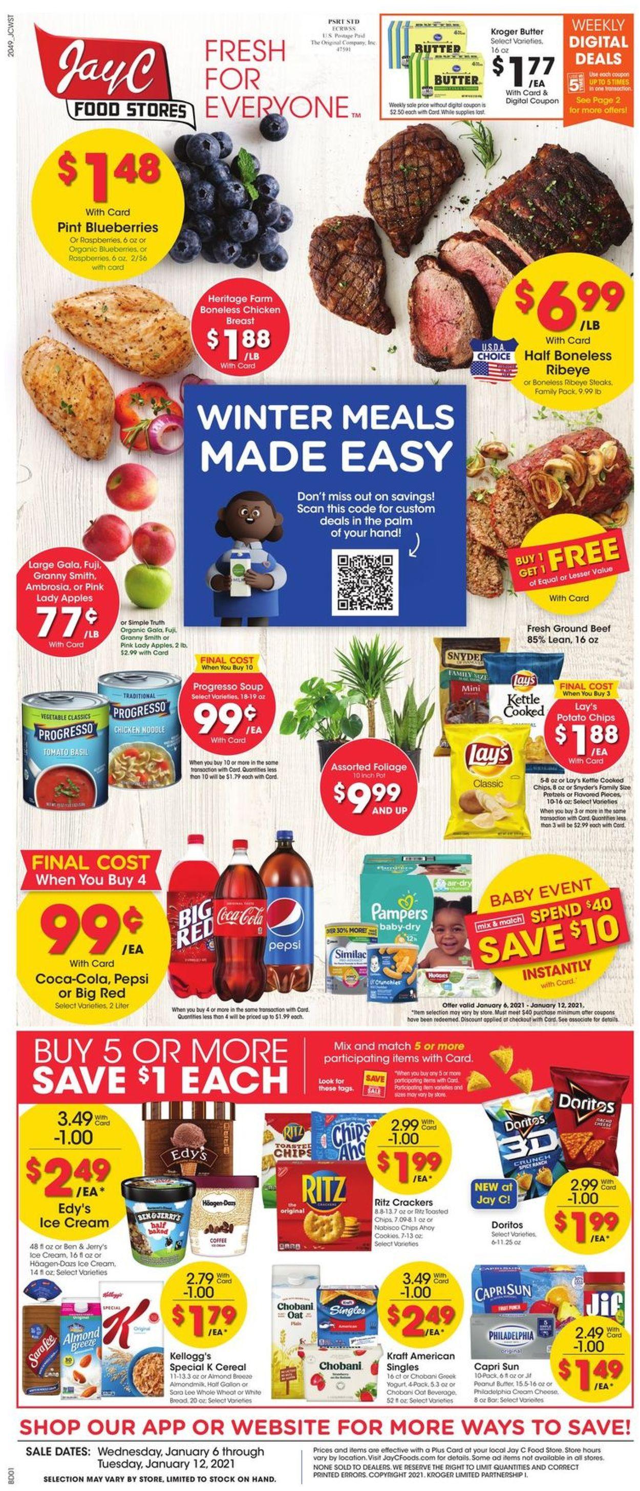 Jay C Food Stores Weekly Ad Circular - valid 01/06-01/12/2021