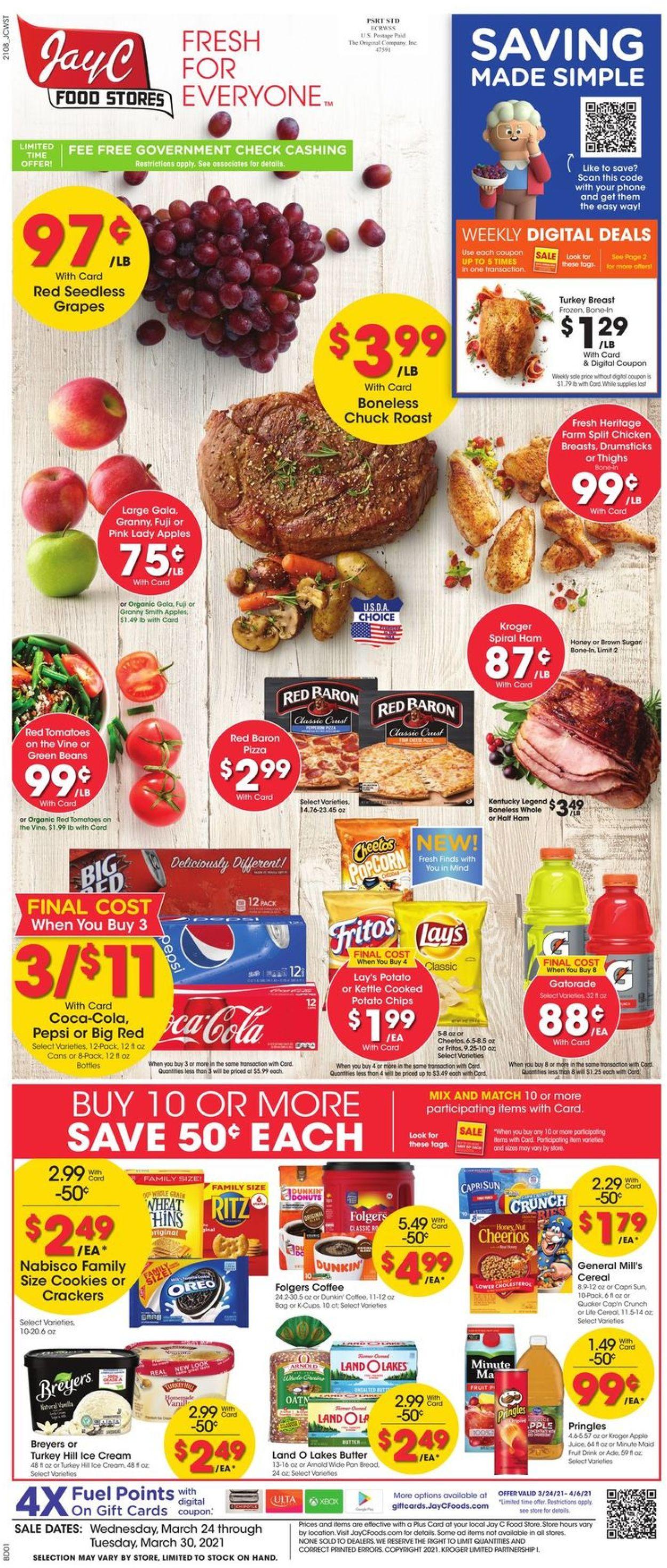 Jay C Food Stores Weekly Ad Circular - valid 03/24-03/30/2021