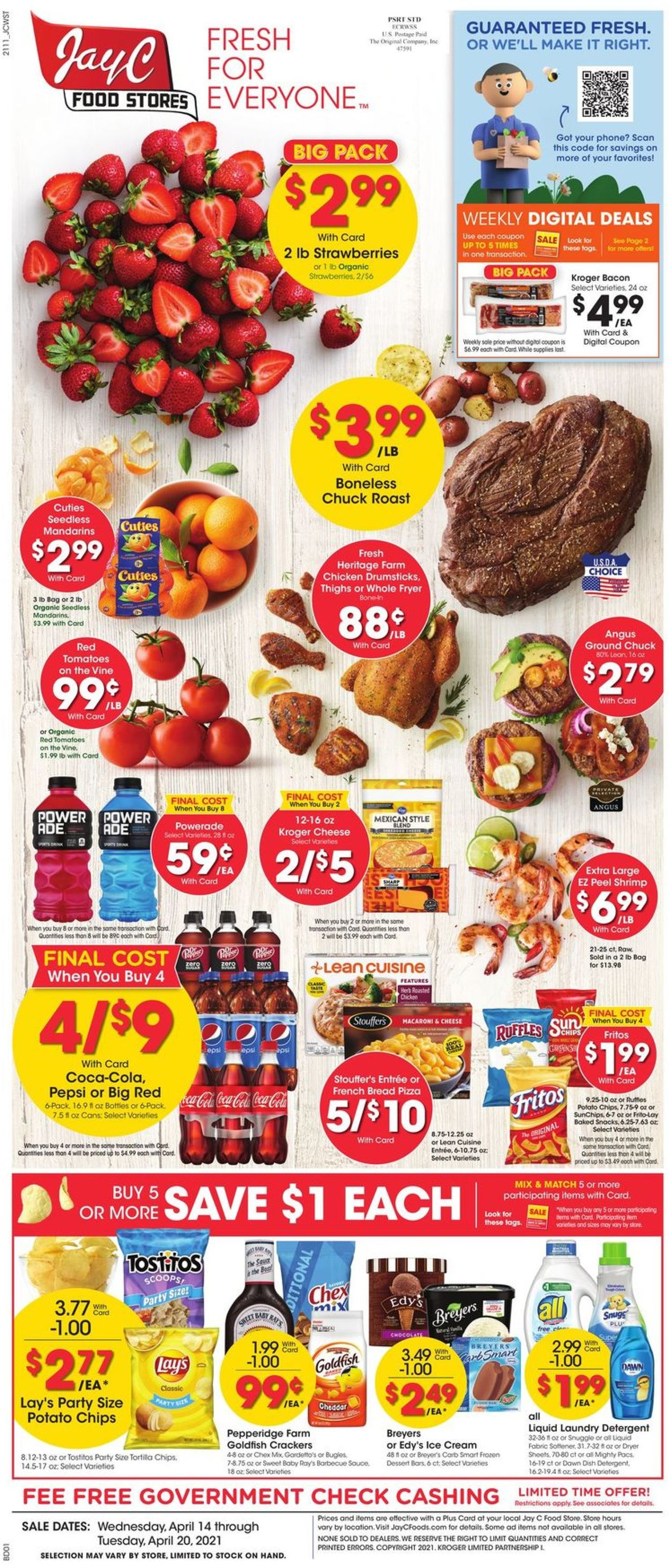 Jay C Food Stores Weekly Ad Circular - valid 04/14-04/20/2021