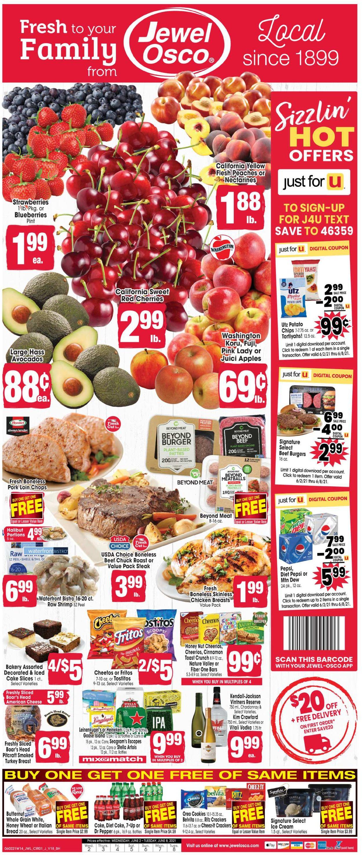 Jewel Osco Weekly Ad Circular - valid 06/02-06/08/2021