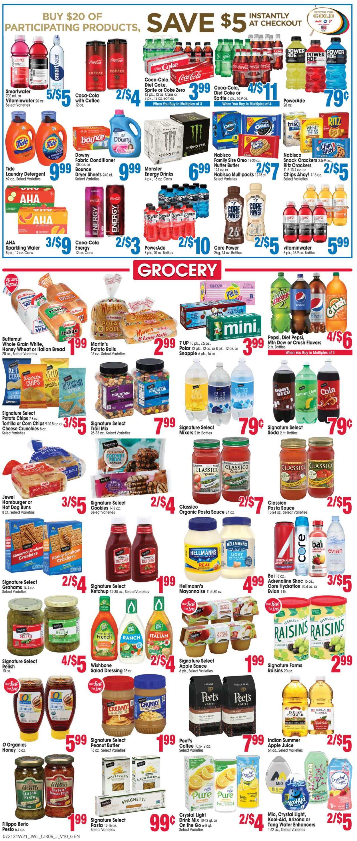 Jewel Osco Weekly Ad Circular - valid 07/21-07/27/2021 (Page 6)