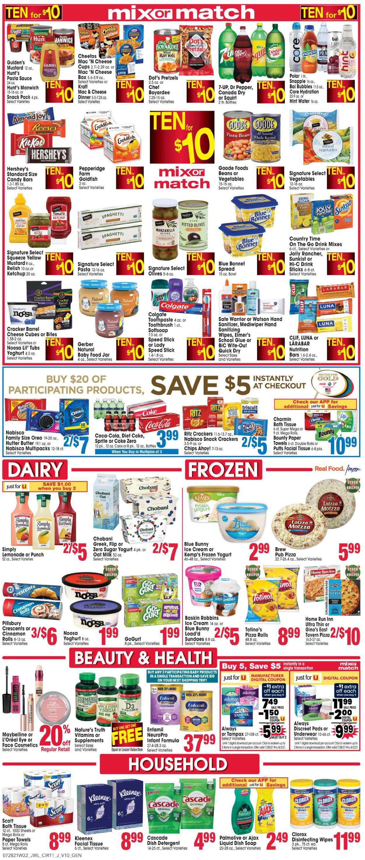 Jewel Osco Weekly Ad Circular - valid 07/28-08/03/2021 (Page 11)