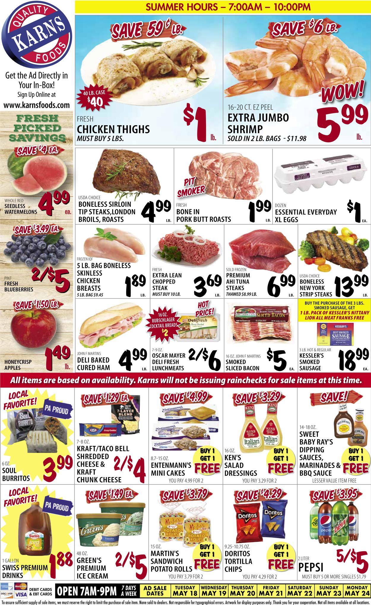 Karns Quality Foods Weekly Ad Circular - valid 05/18-05/24/2021