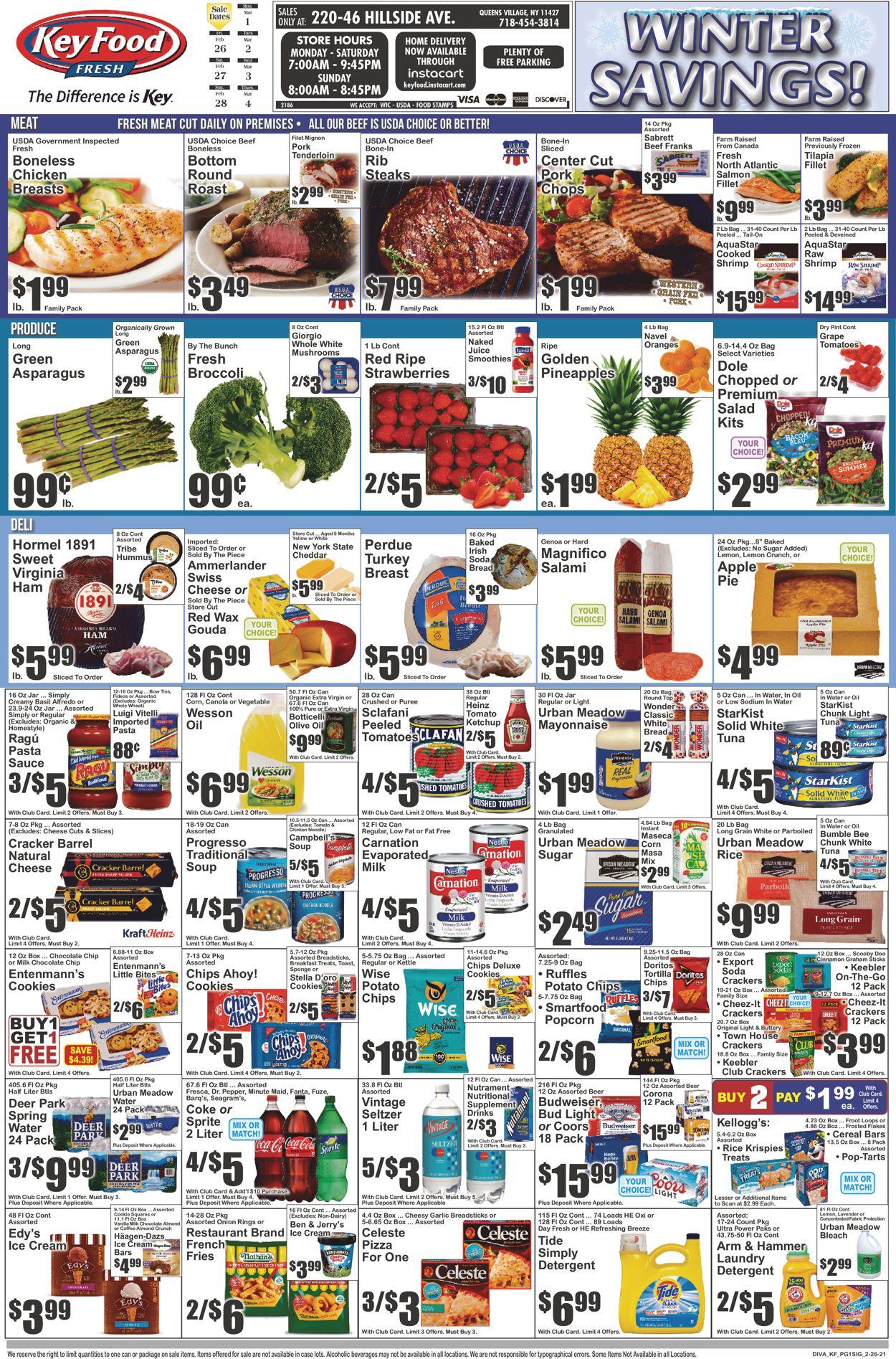 Key Food Weekly Ad Circular - valid 02/26-03/04/2021