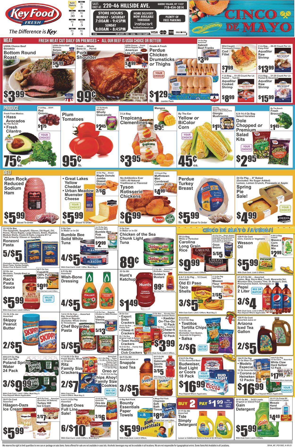 Key Food Weekly Ad Circular - valid 04/30-05/06/2021